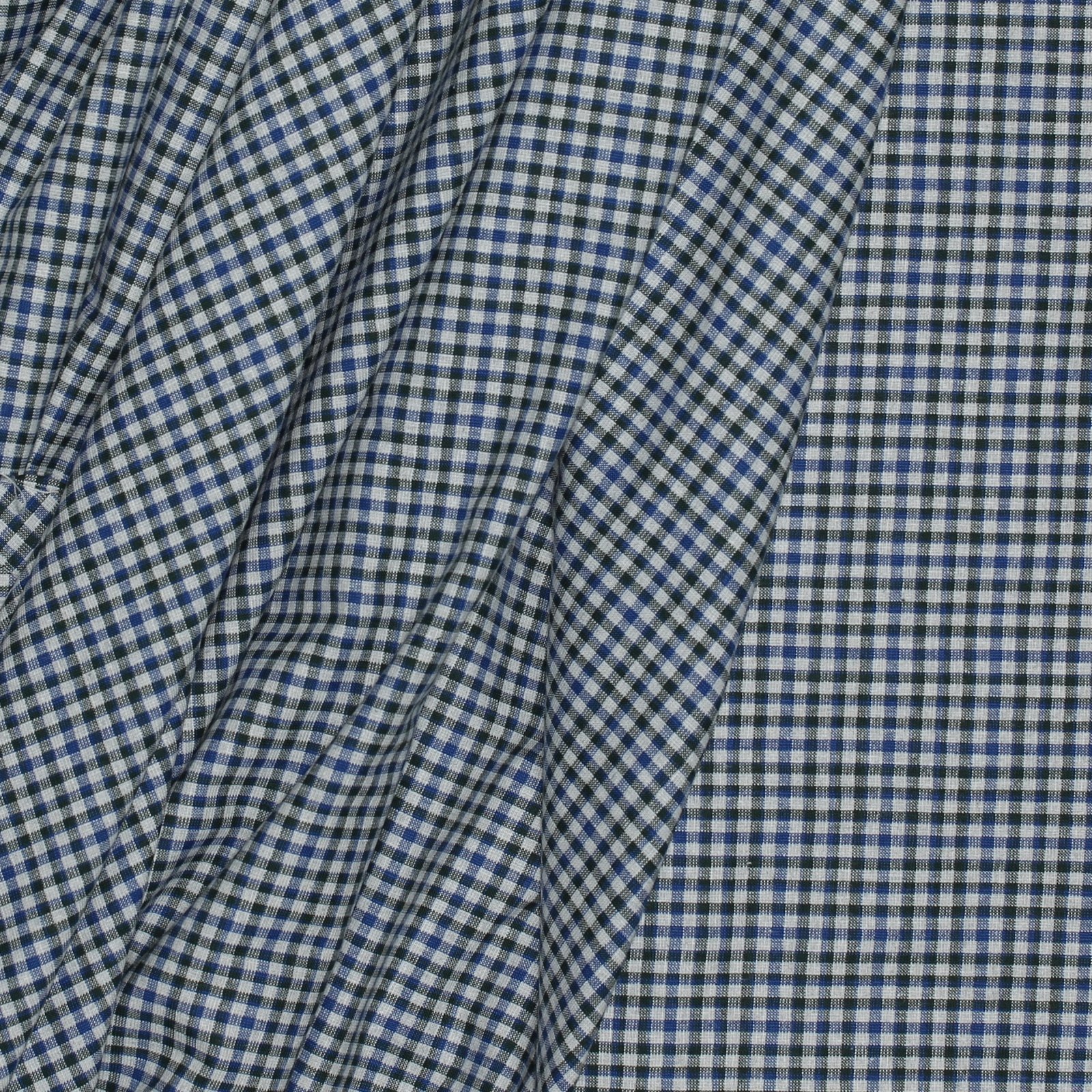 Ecru w/Blue & Green Check Italian Cotton/Wool