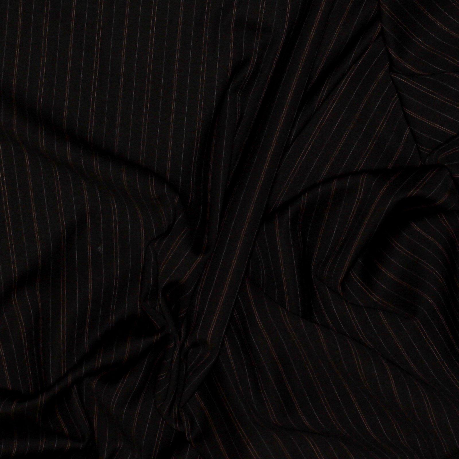 Black w/Pink & Lilac Pinstripe Italian Wool