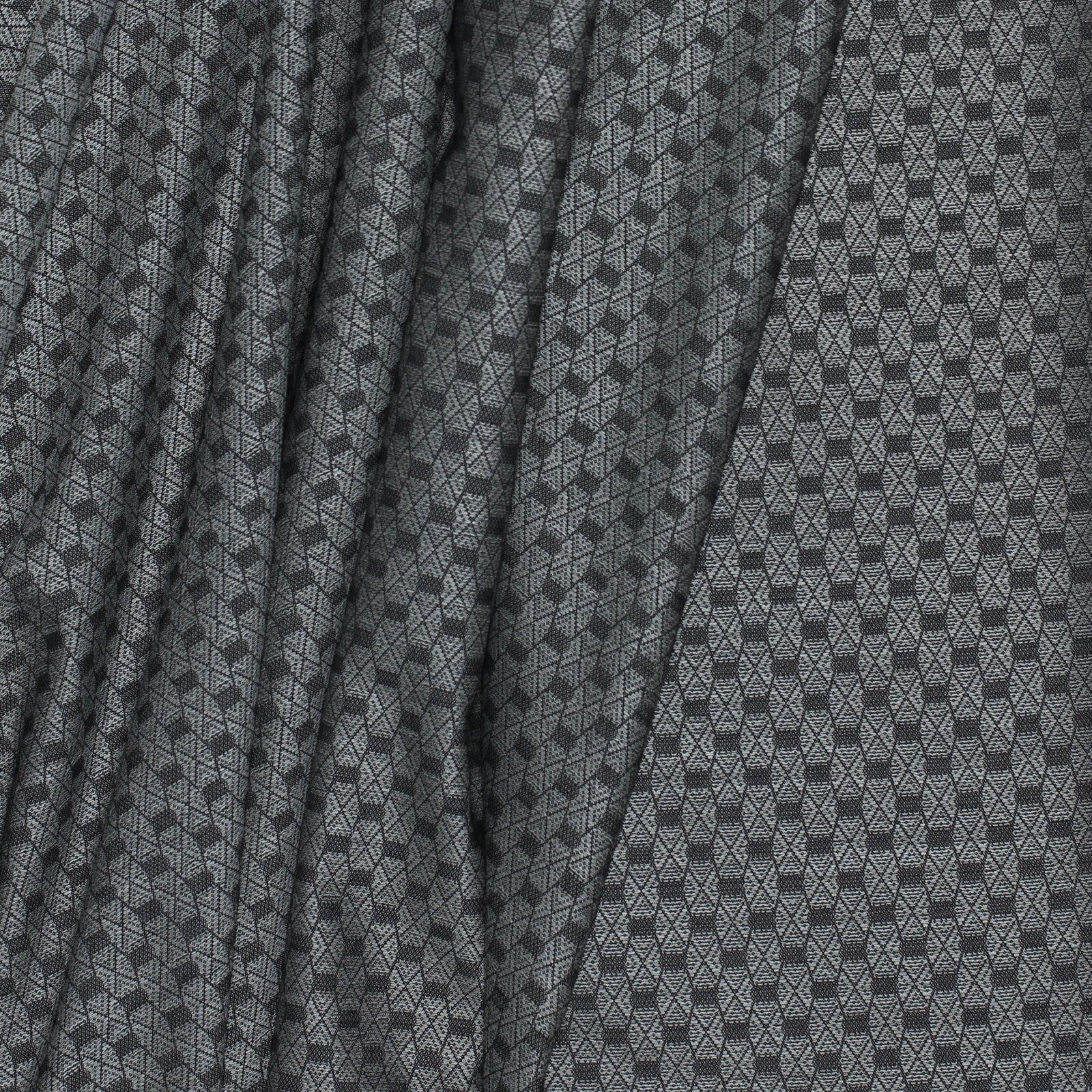 Geometric Black/Grey Italian Wool