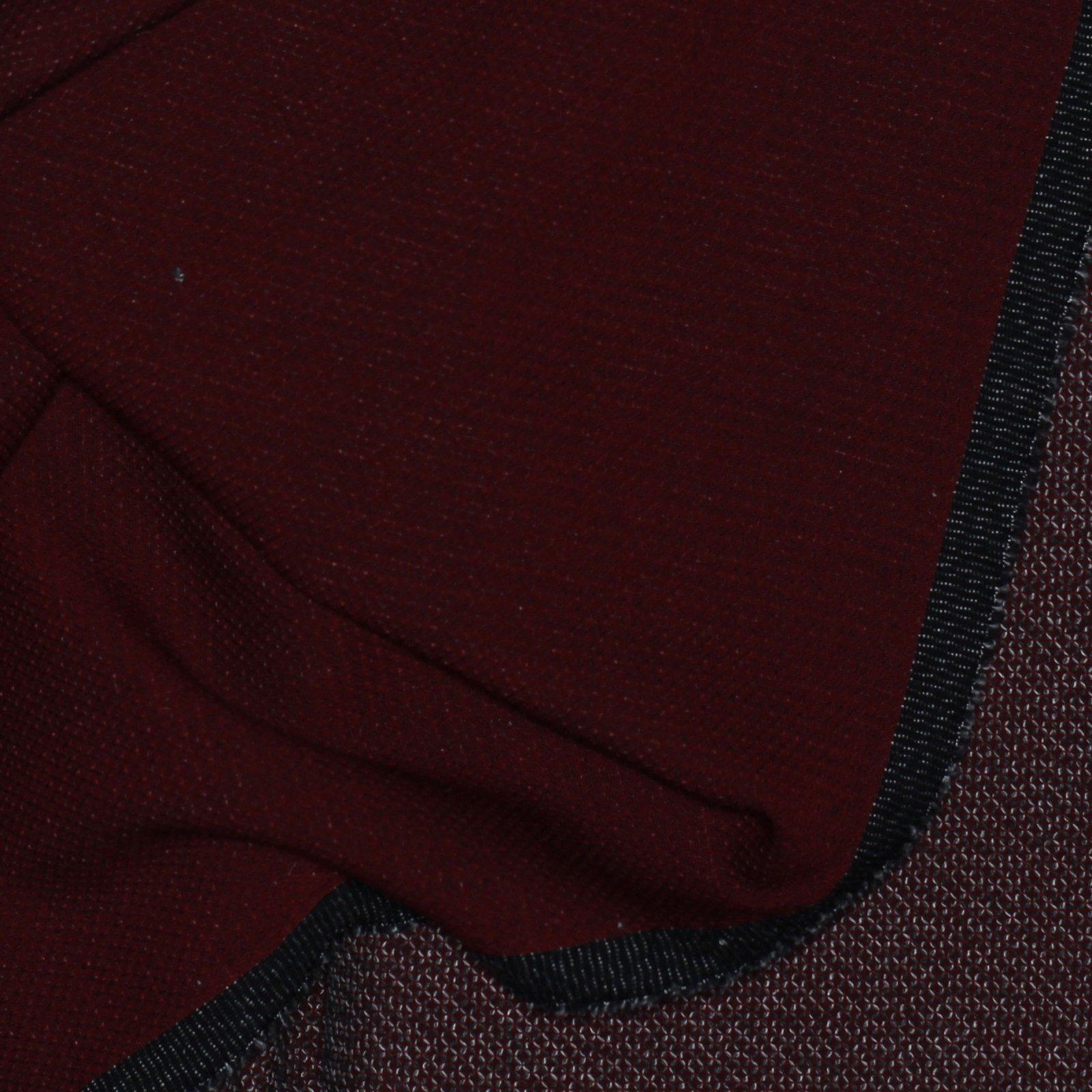 Red w/Grey Textured Pattern Italian Wool