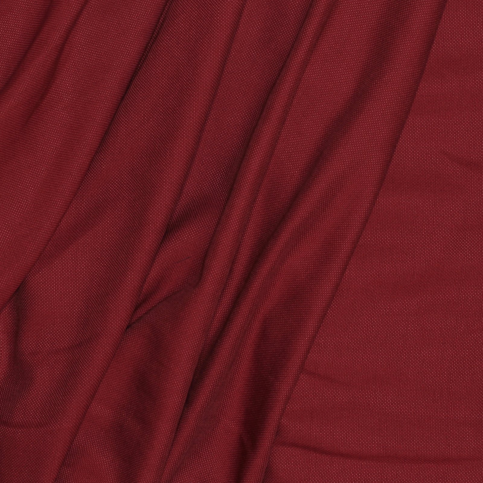 Brick Red Plain Weave Italian Silk/Cotton Blend