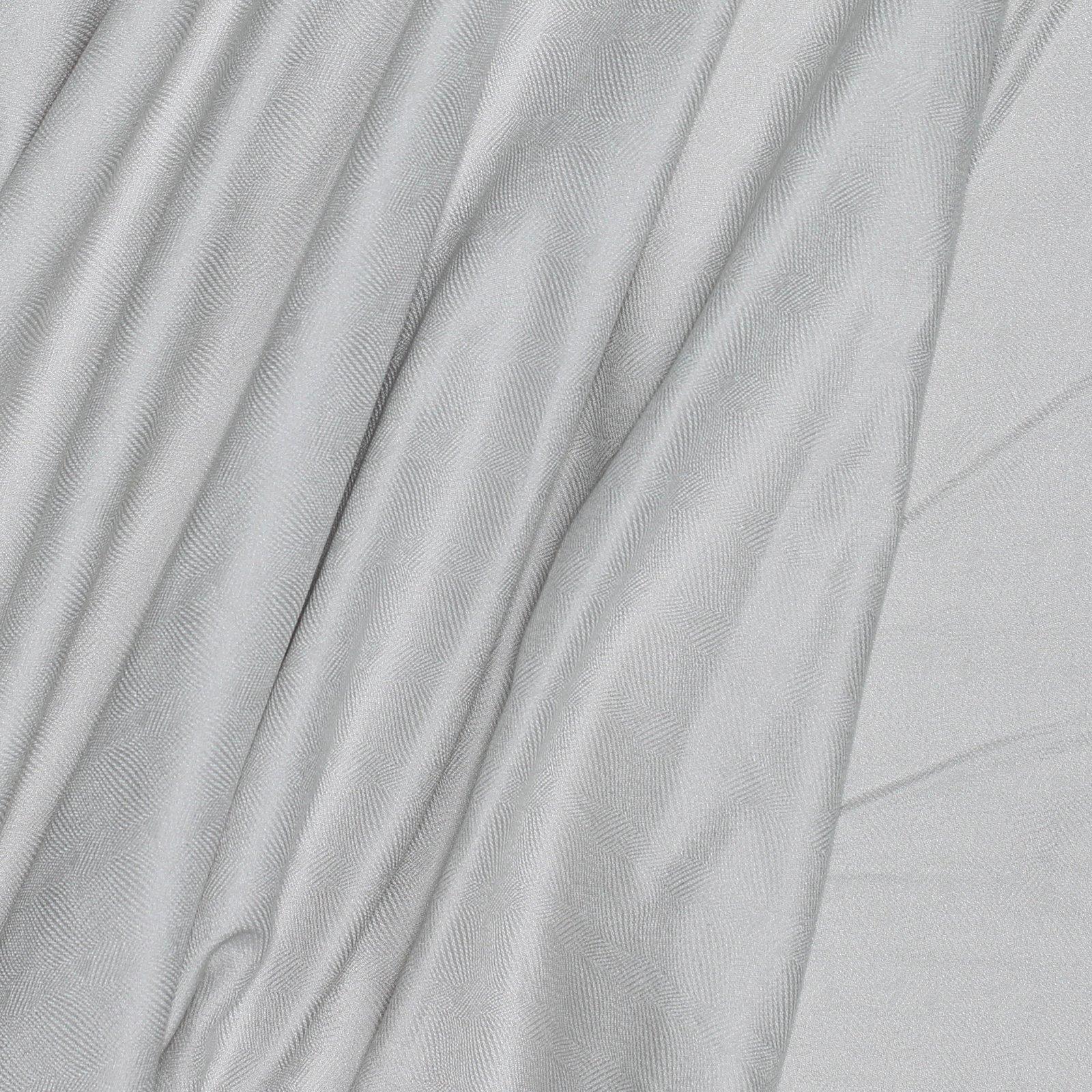Ecru  w/ Optical Illusion Jacquard Italian Cotton/Rayon Blend