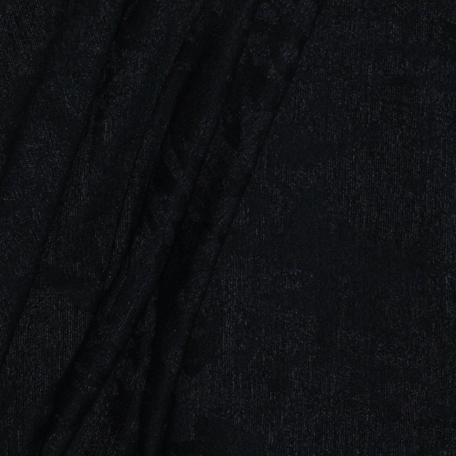Black Italian Cotton/Wool Jacquard