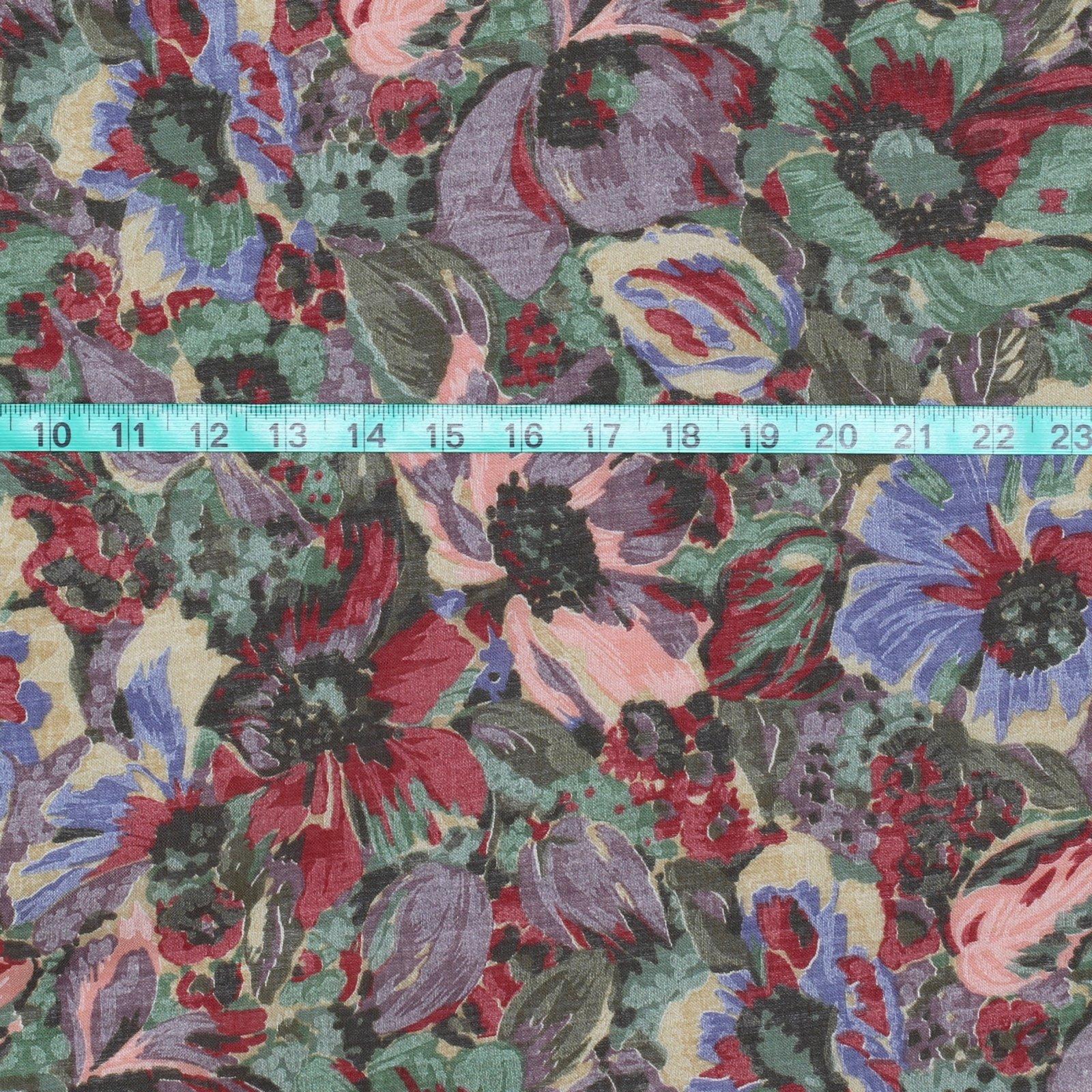Wool/Cotton Voile Floral Print