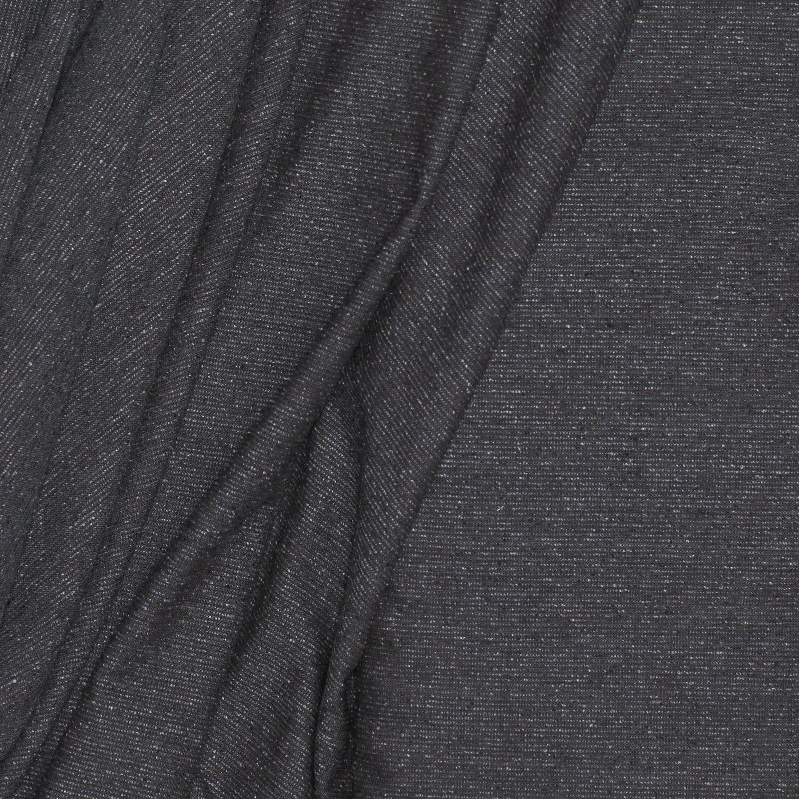 Greyed Brown Subtle Stripe Italian Linen/Silk/Wool Blend