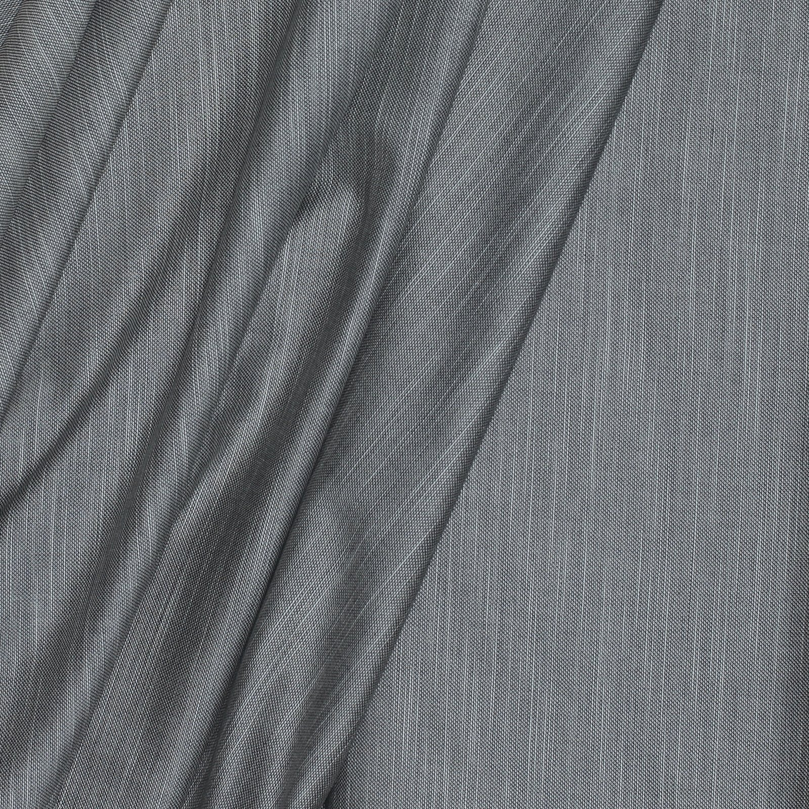 White on Black Linen Look Italian Cotton