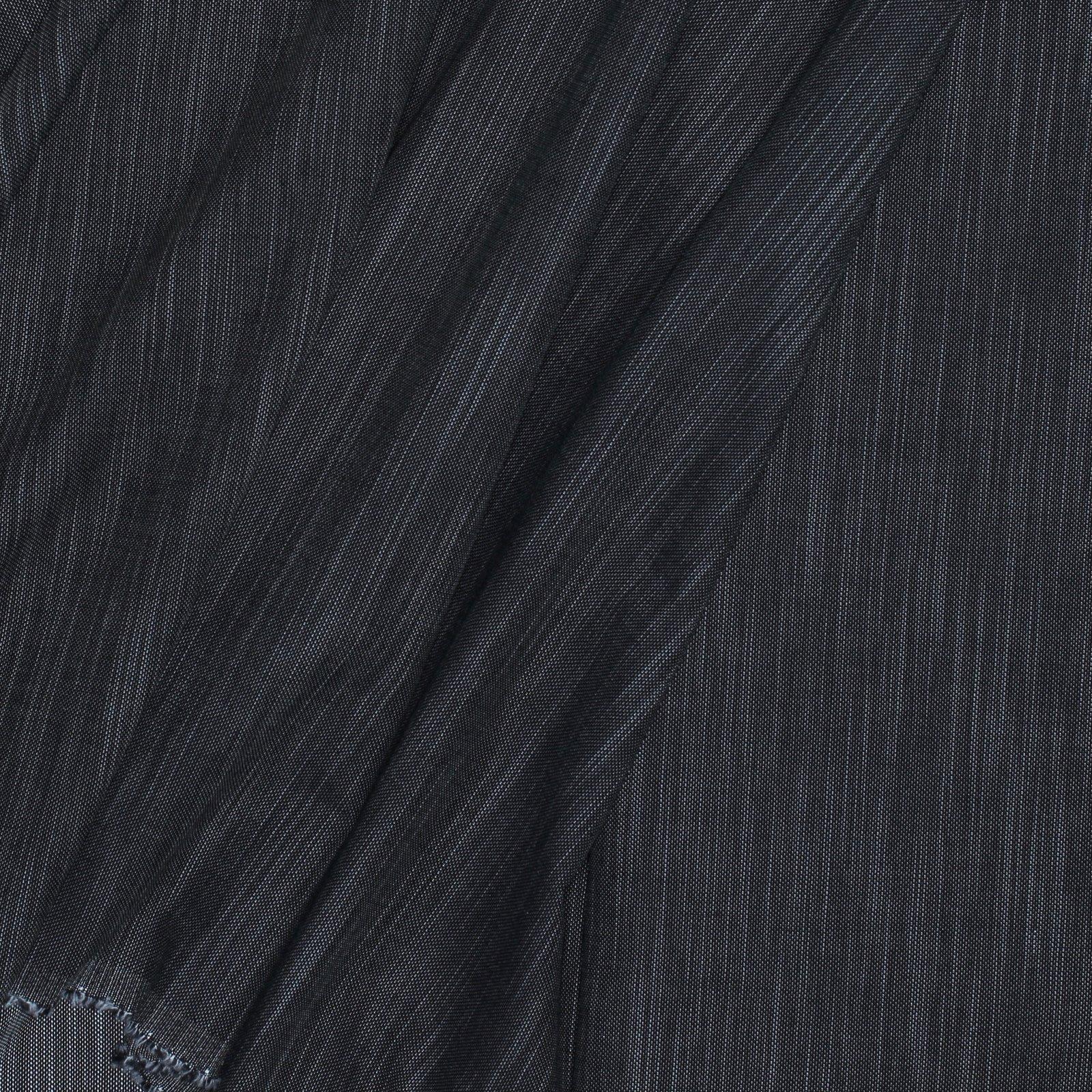 Black on White Linen Look Italian Cotton
