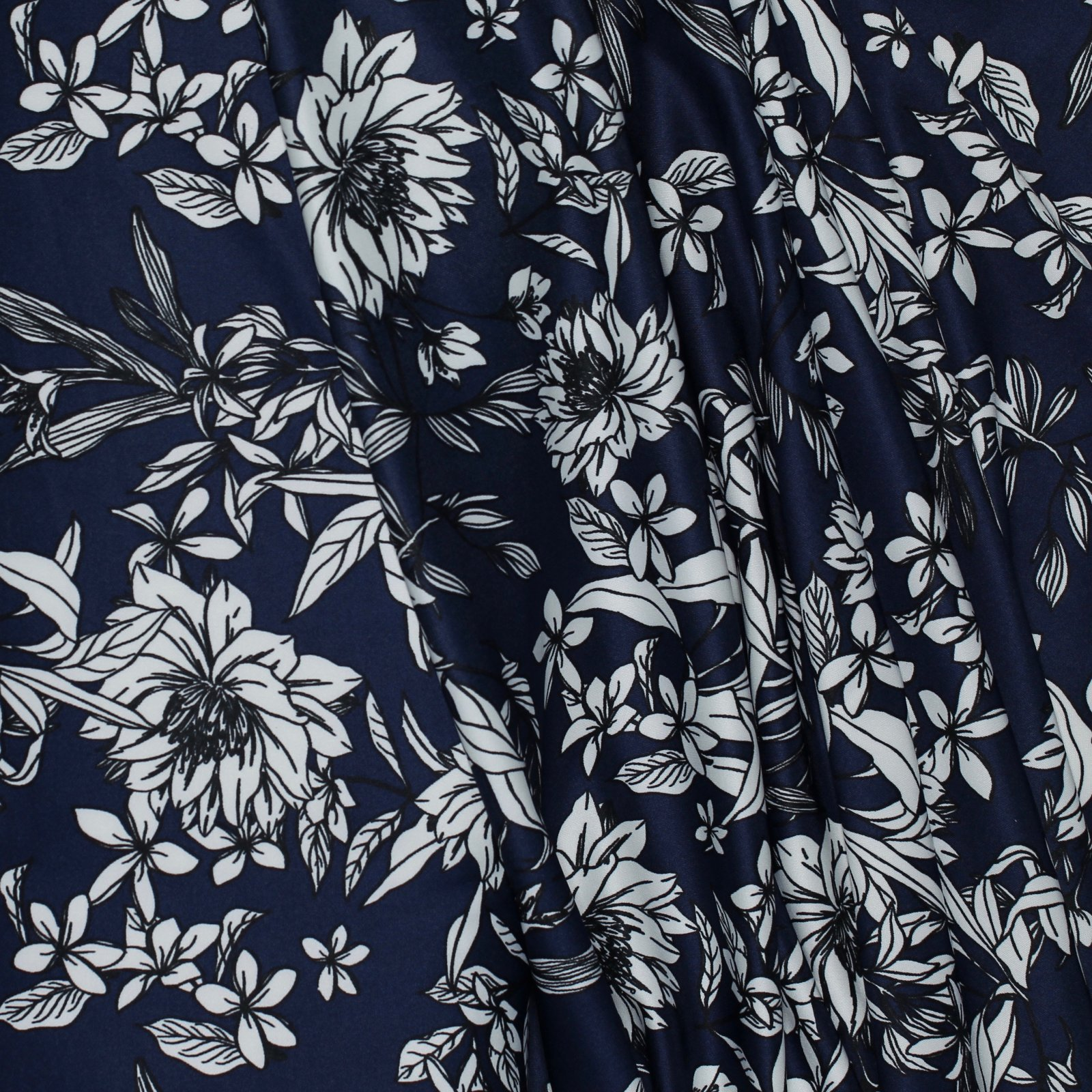 Floral Line Art Techno Knit