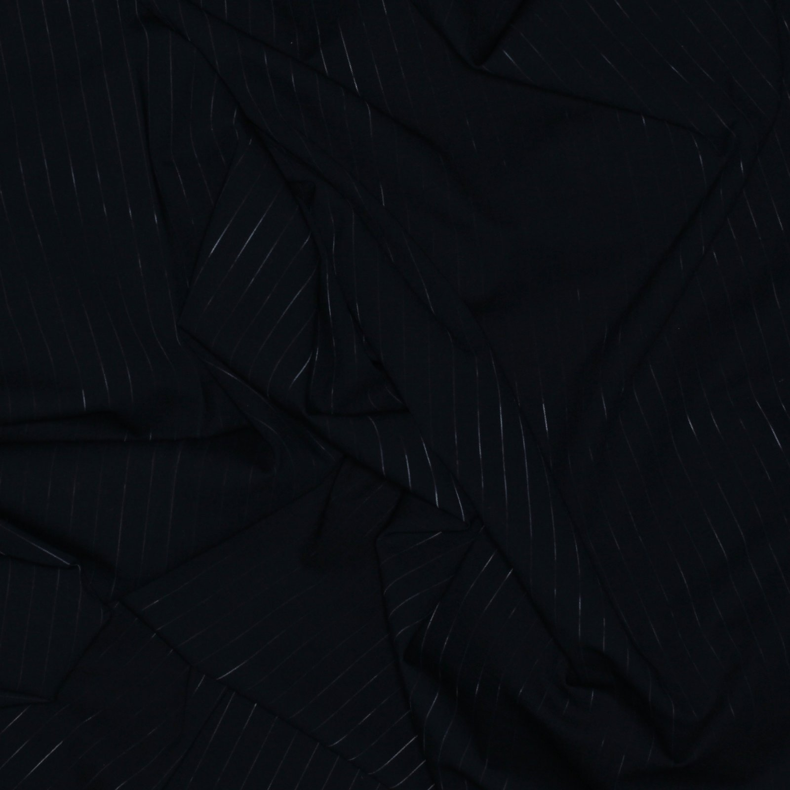 Black w/White varigated Pinstripe Italian Wool/Lycra