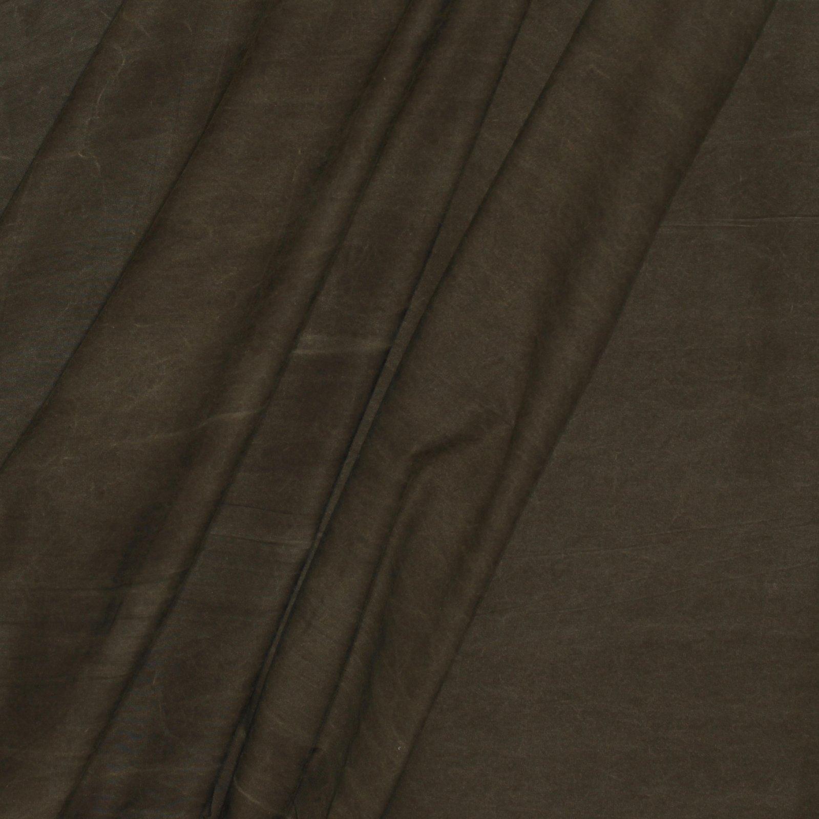 Brown Waxed Look Italian Cotton