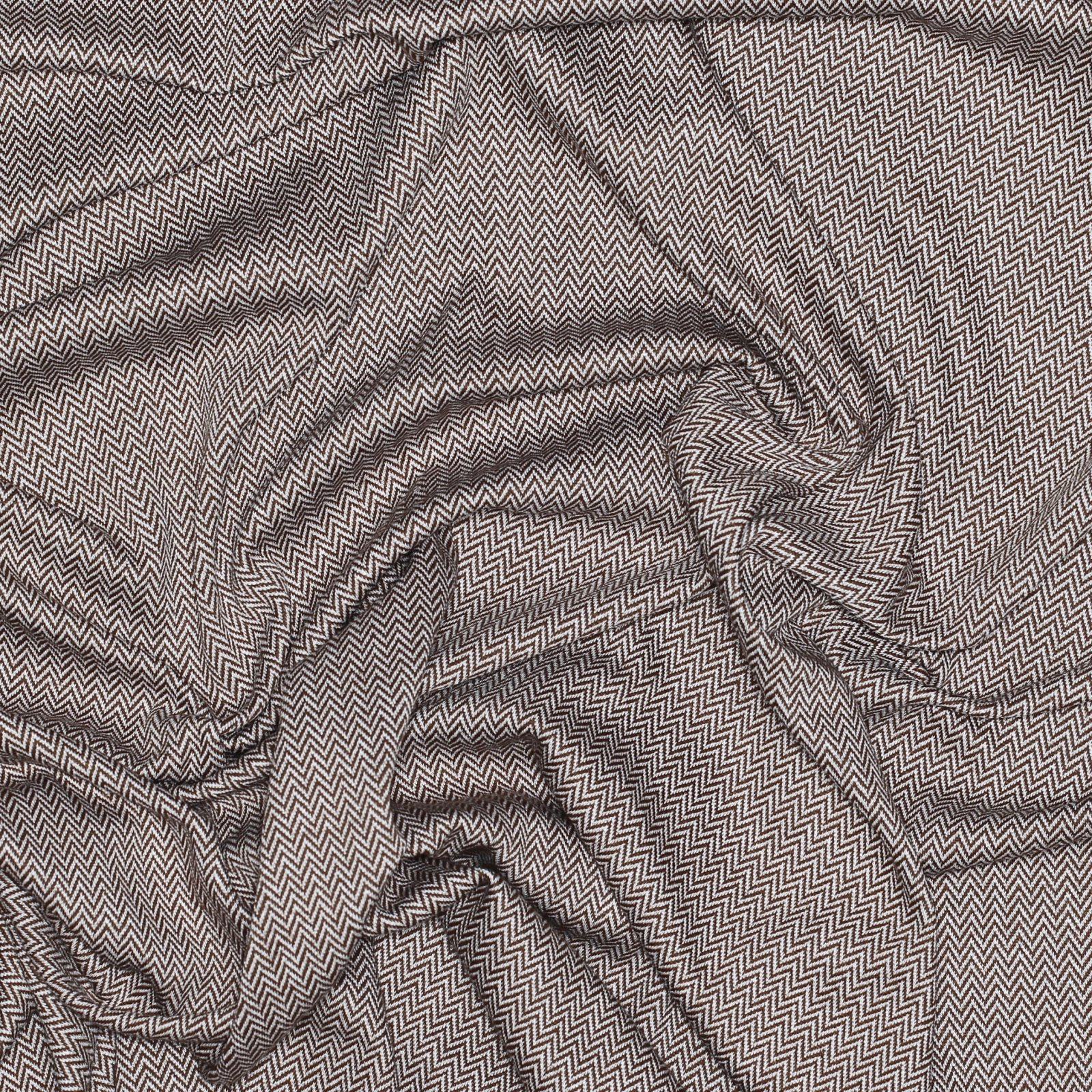 Camel/White Herringbone Knit