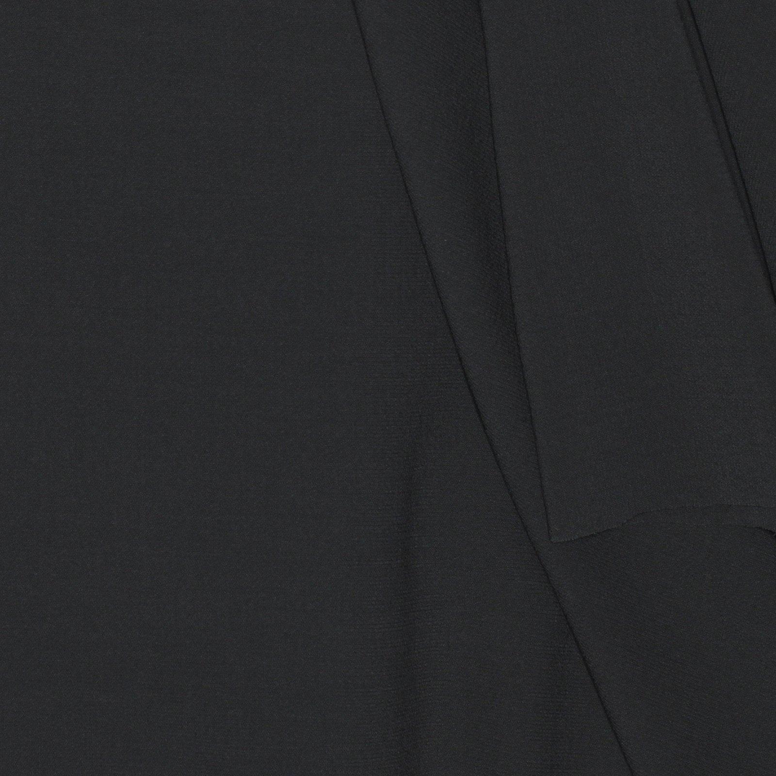 Solid Slate Grey Italian Wool/Lyrca Textured Crepe