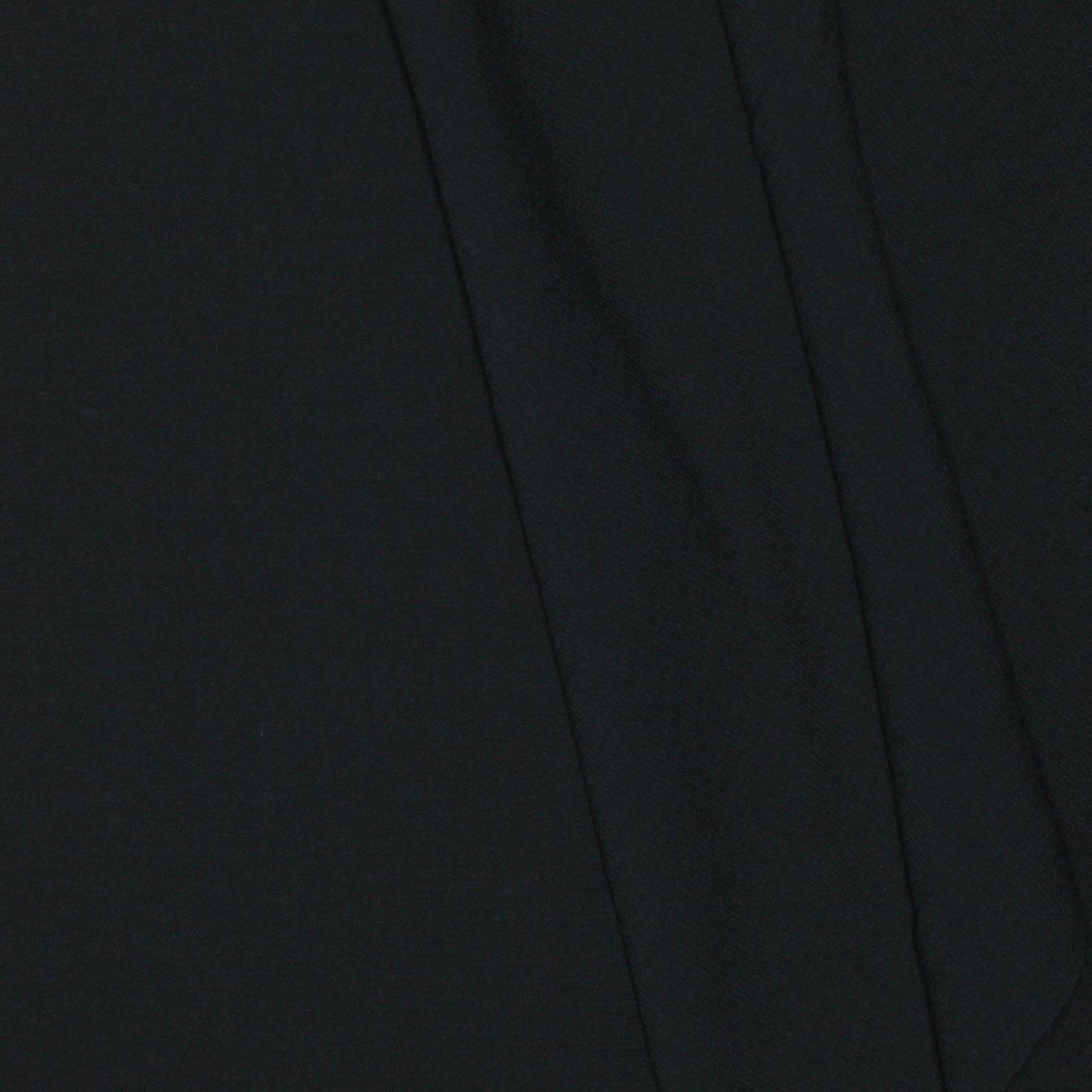 Solid Charcoal Grey Italian Wool/Lyrca Textured Crepe