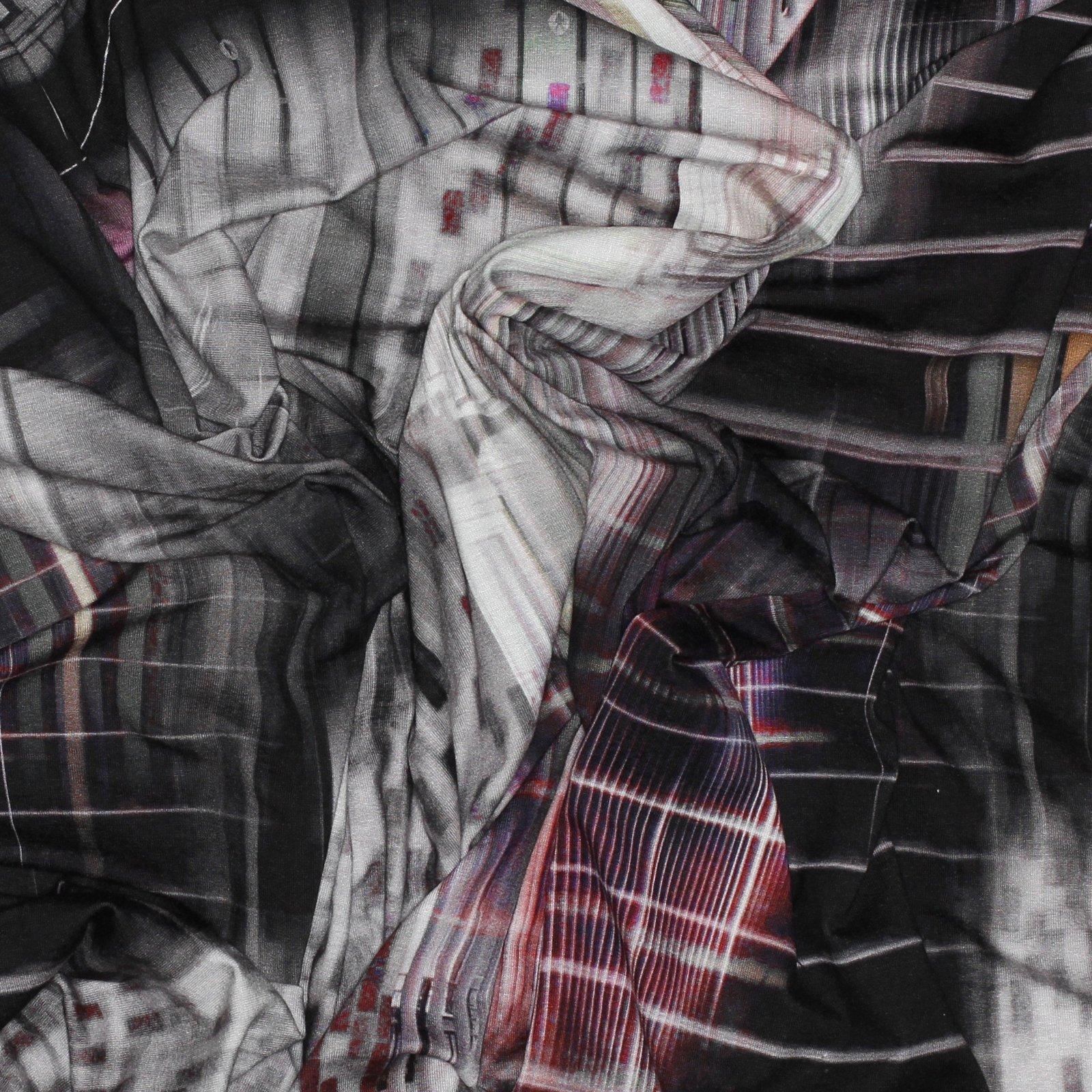 Geometric Rayon/Lycra Italian Knit