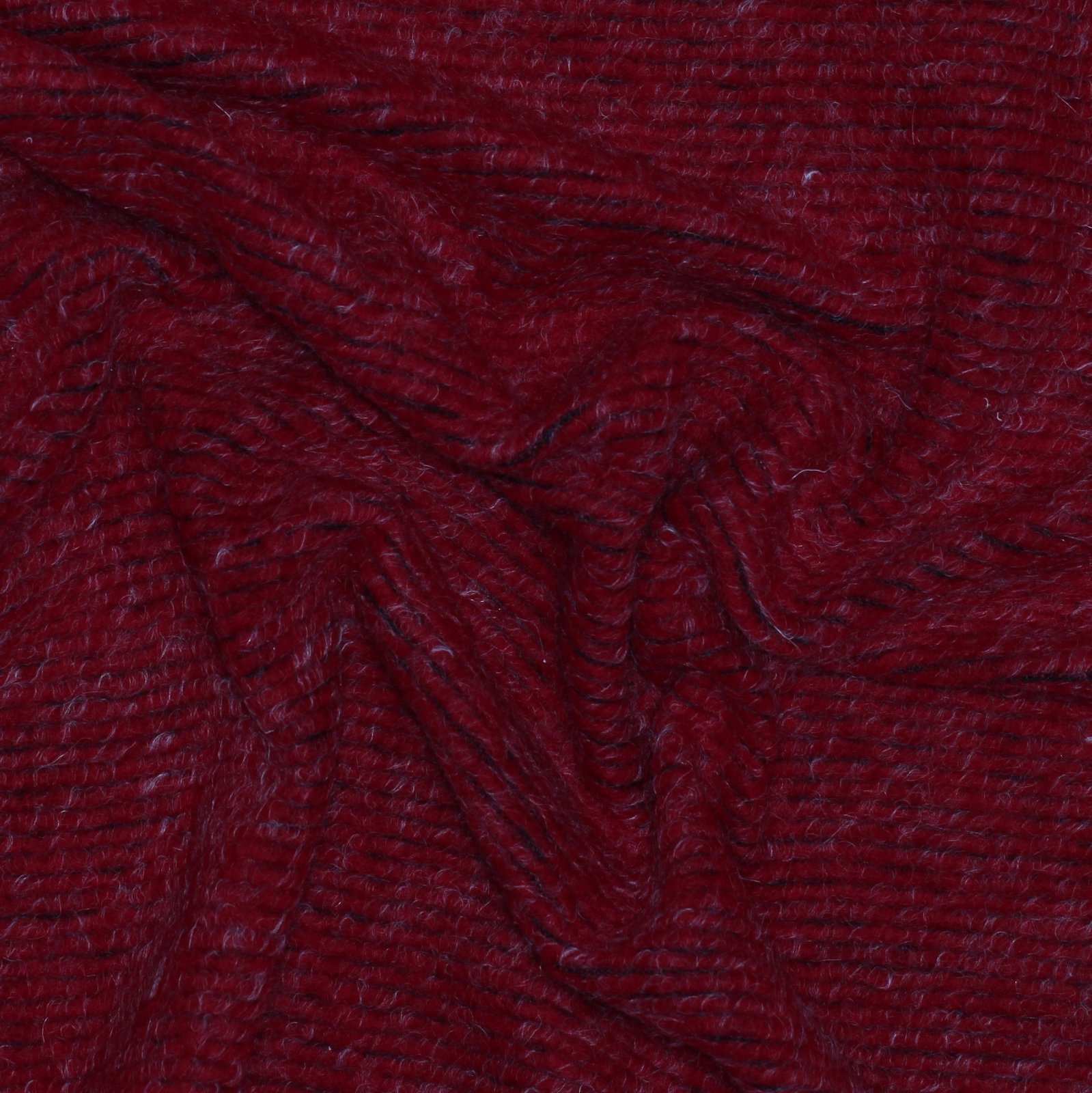 Red Ottoman Style Boiled Wool