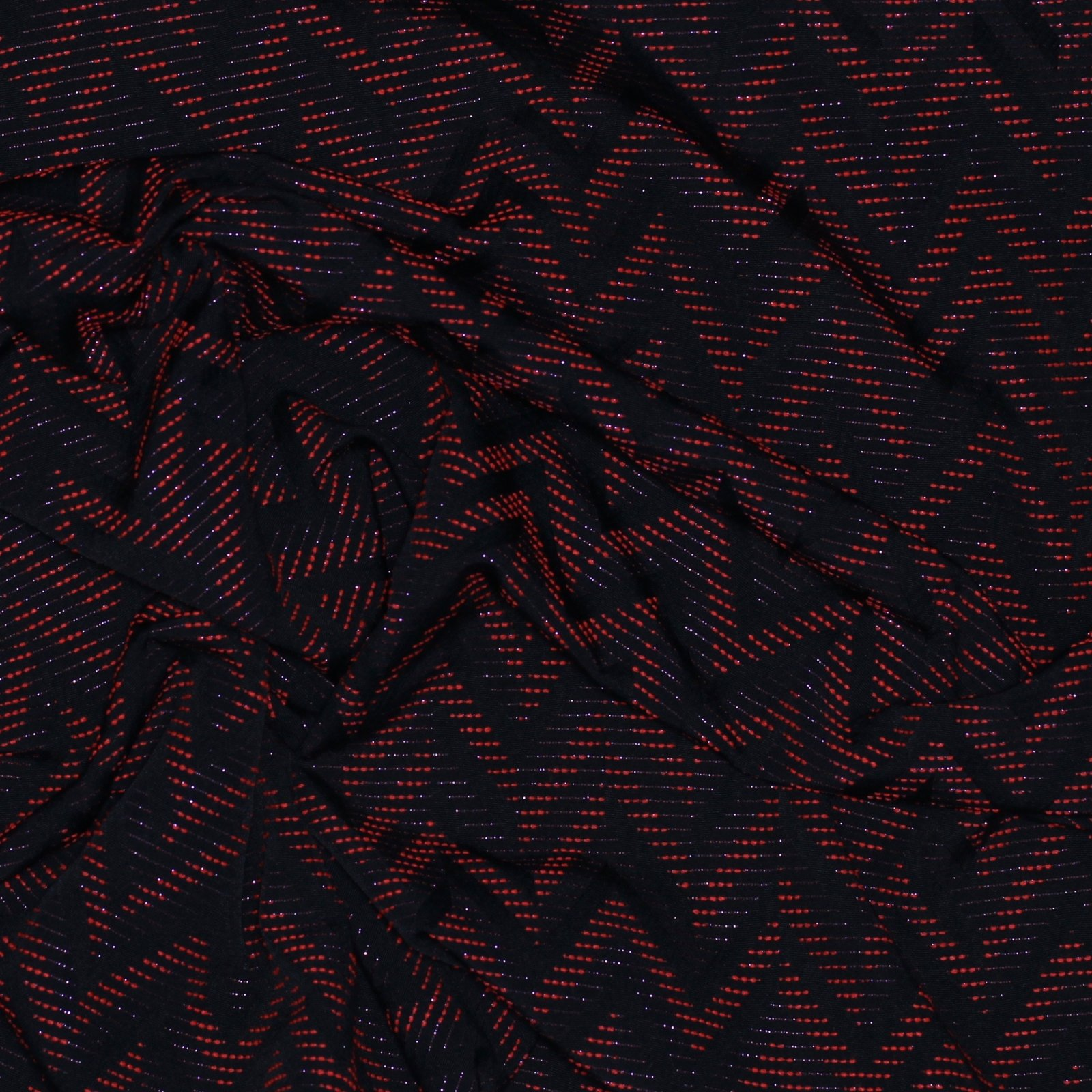 Black w/Electric Orange & Metallic Zig Zag French Brocade