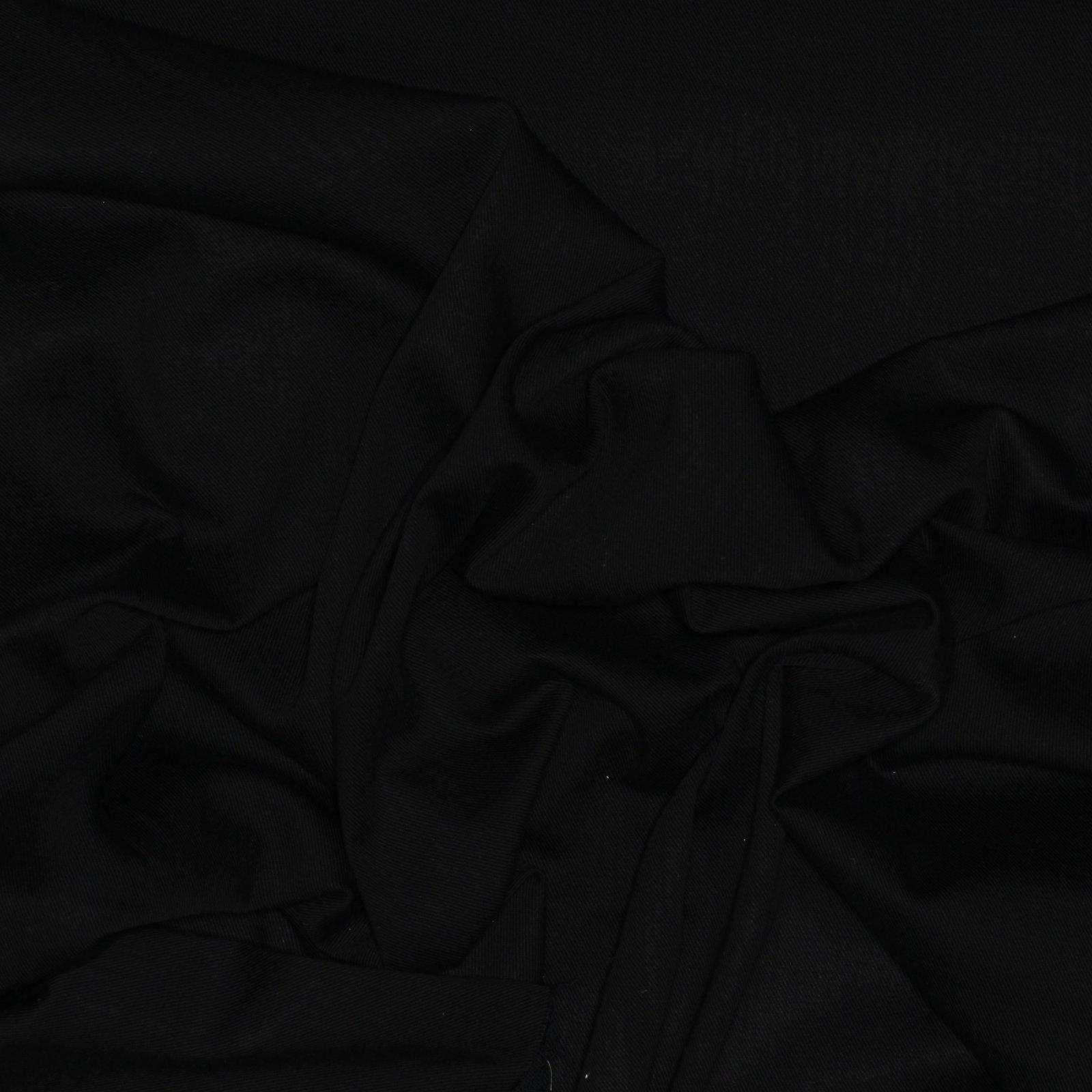 Black Cotton Italian Denim