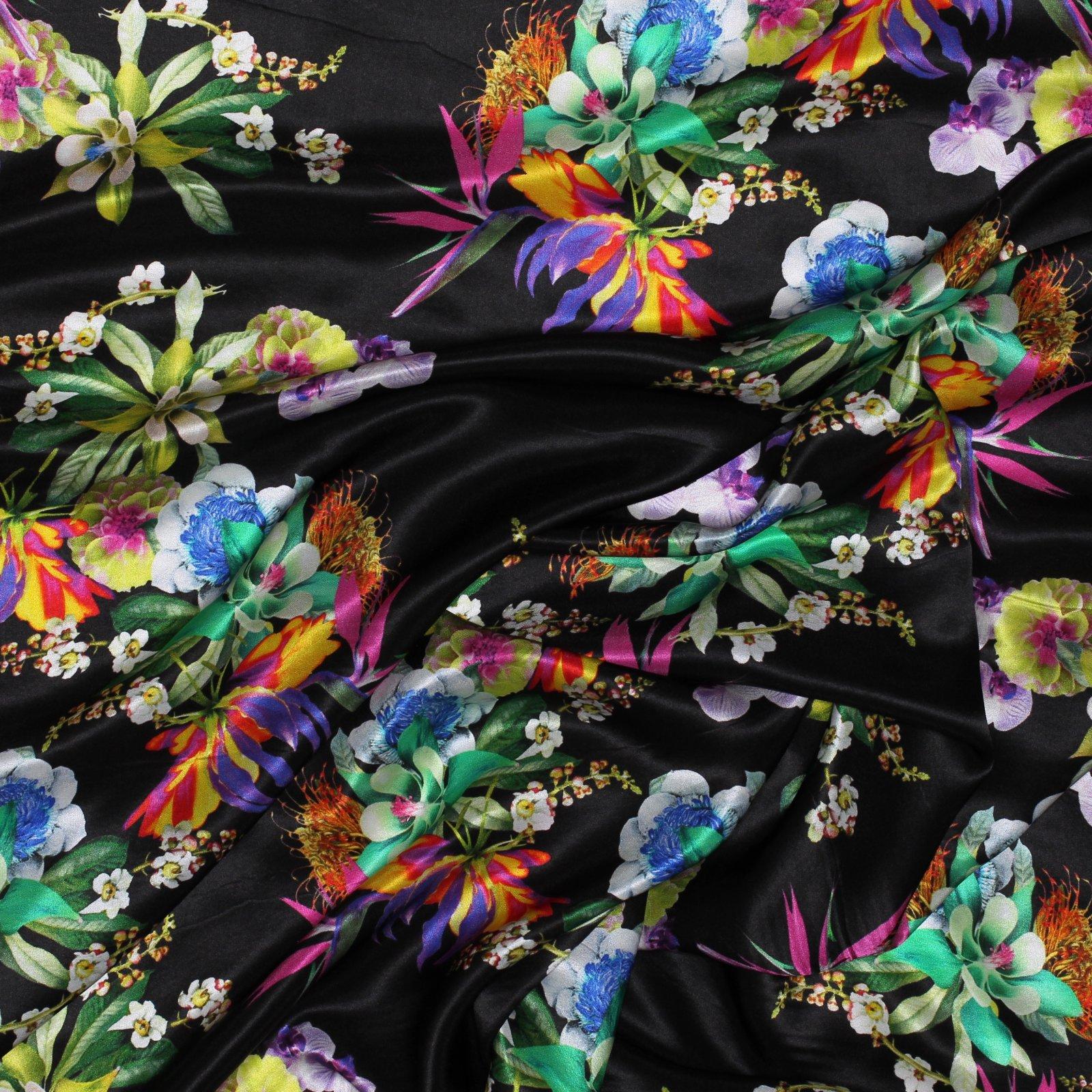 Italian Silk Charmuese Floral Versace