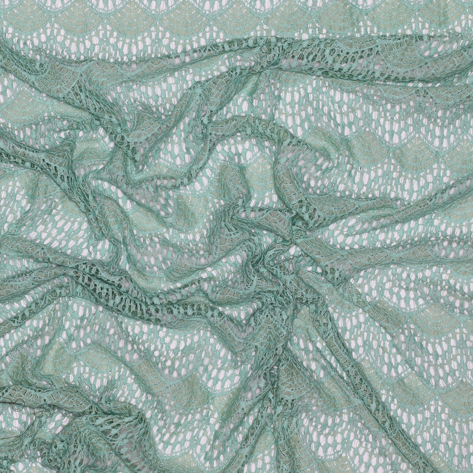Seafoam Green Cotton/Nylon Lace