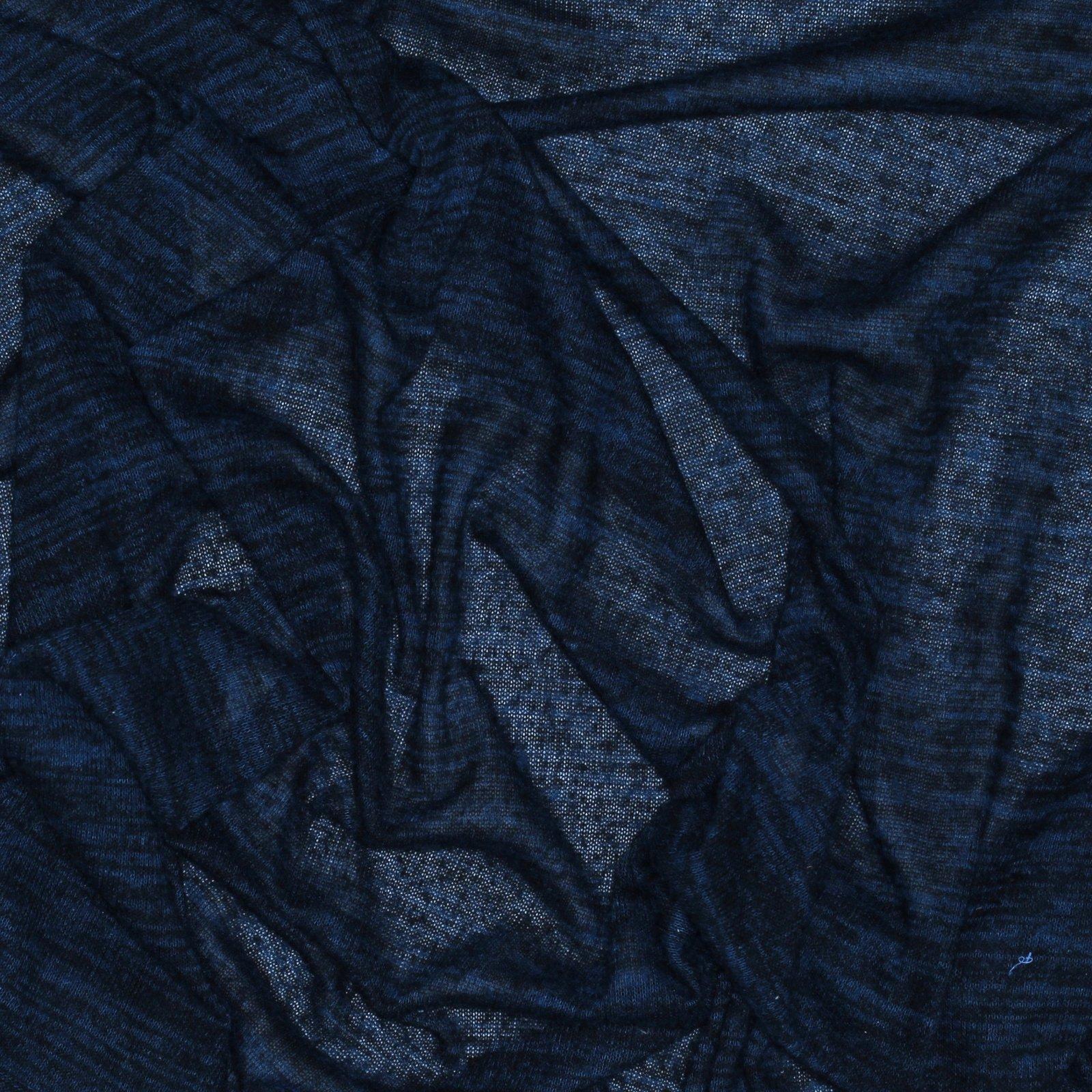 Black/Navy Heathered Sweater Knit