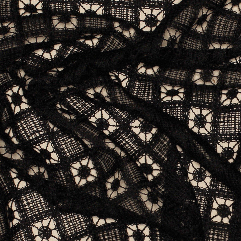 Elie Tahari Black Spiral Lace; 55; Poly Blend