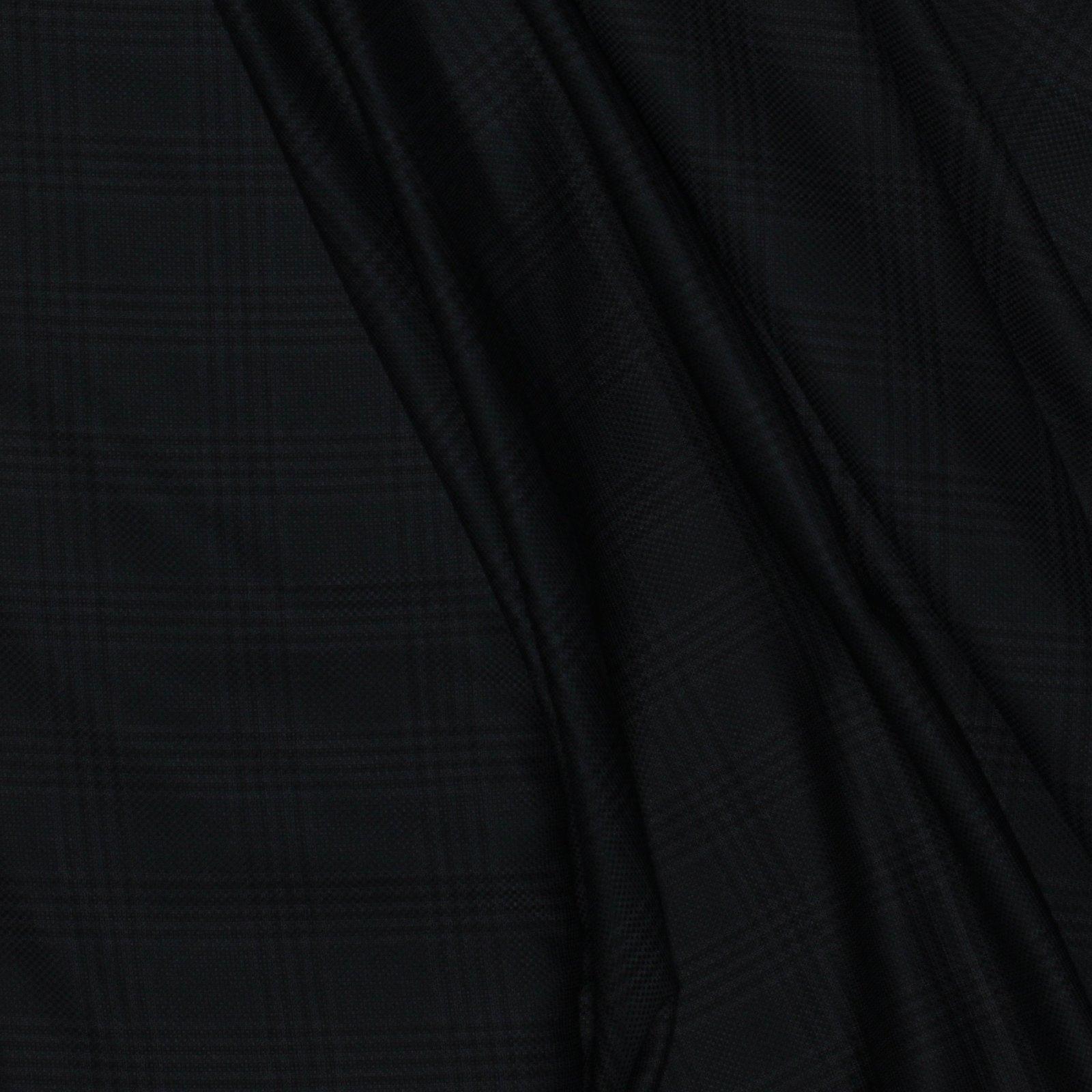 Black on Black Woven Plaid Italian Wool