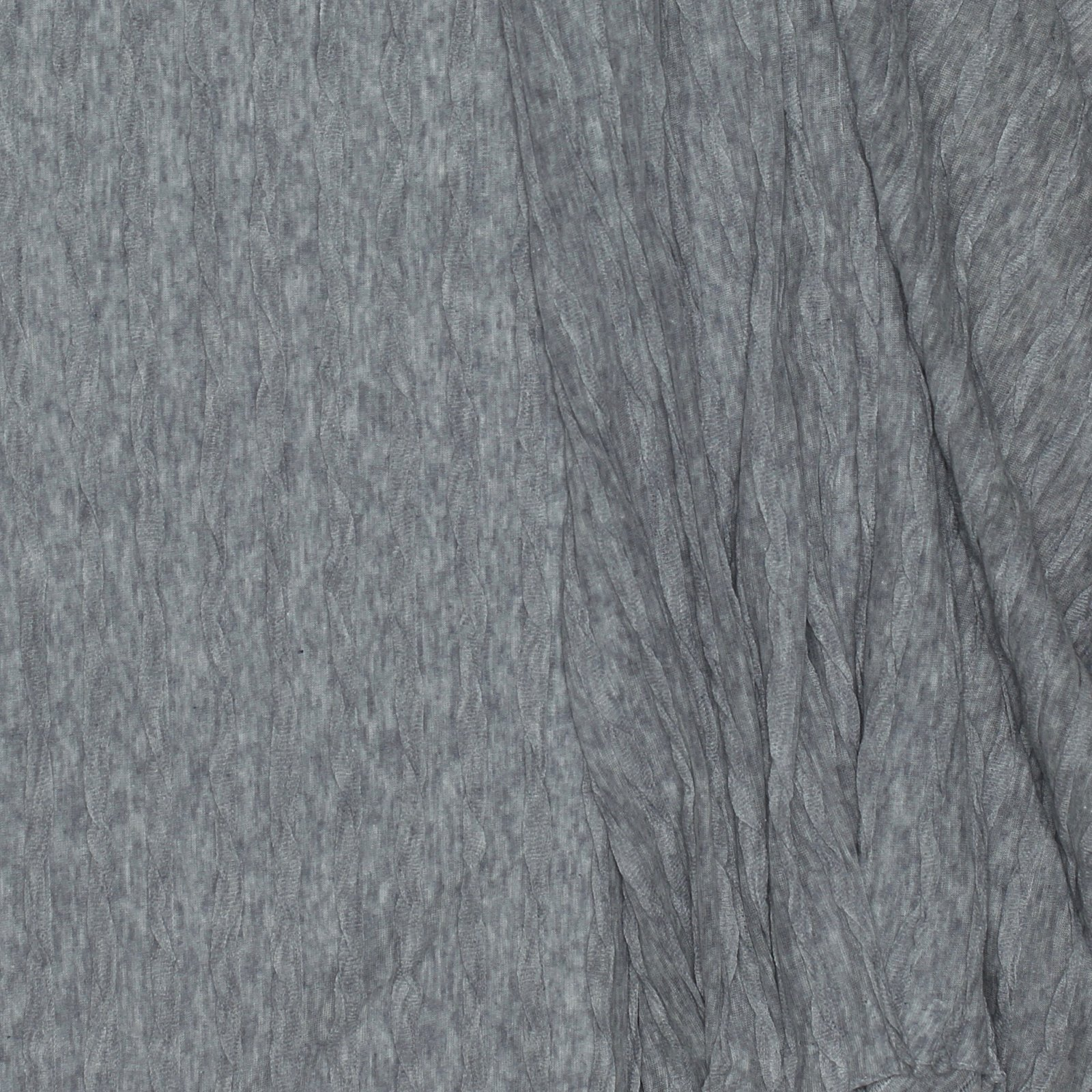 Grey w/Gathered Texture Cotton/Lycra Knit