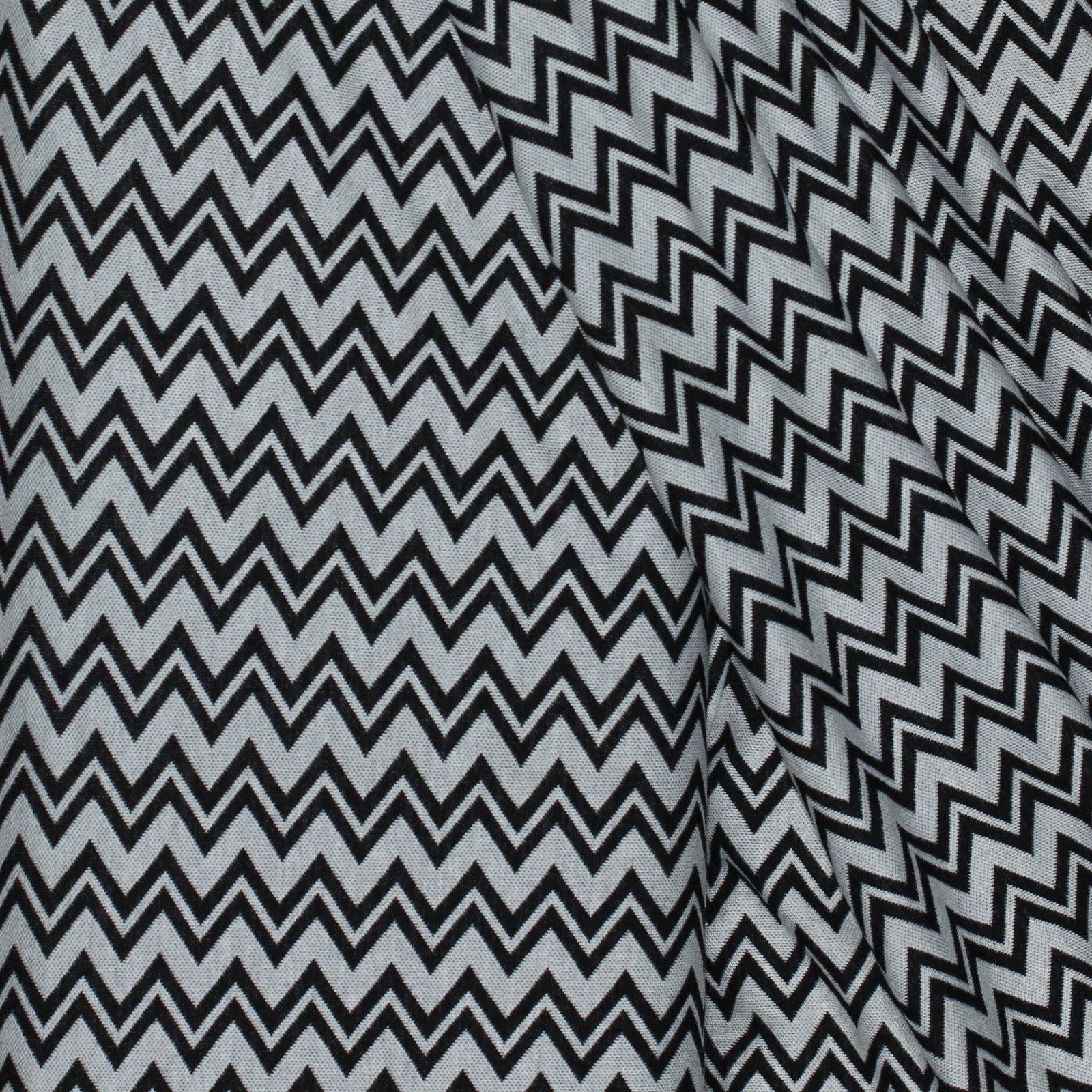 Black/White Chevron Italian Cotton Knit