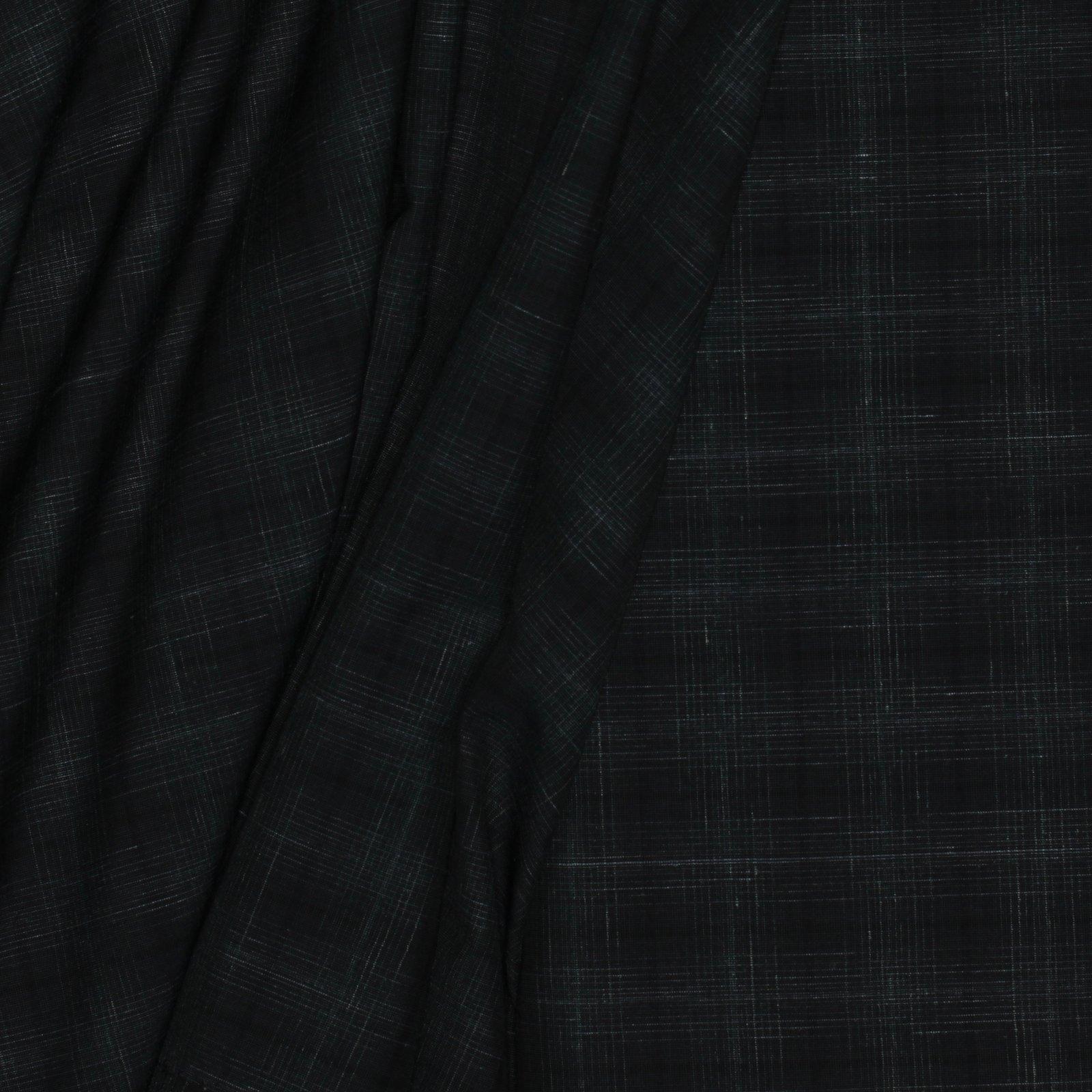 Green w/Faint Glen Plaid Italian Wool/Silk /Linen Blend