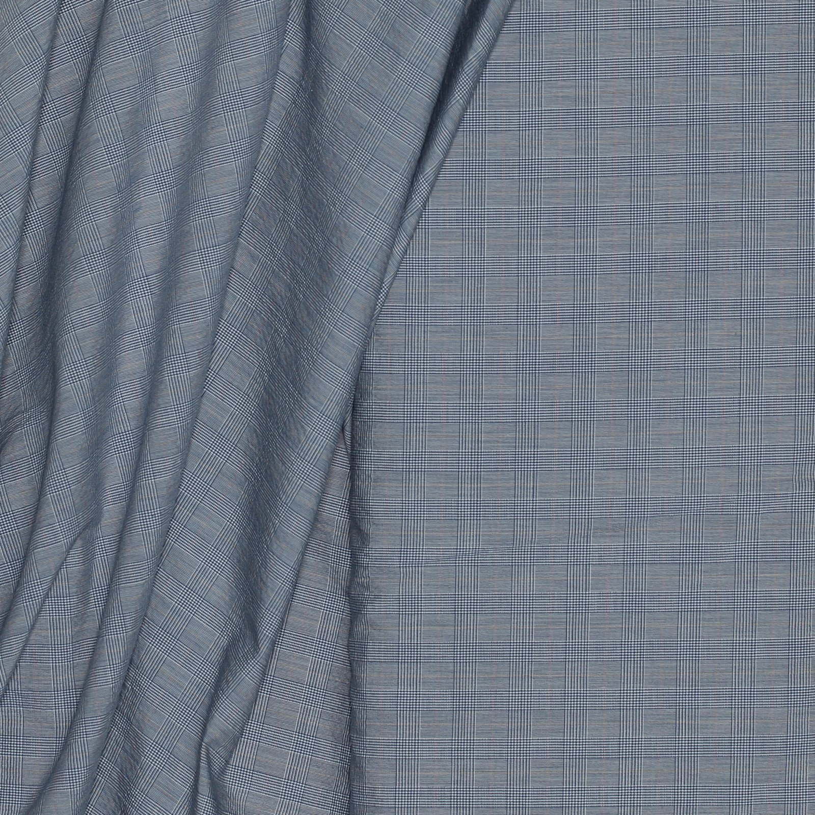 Light Blue Glenn Plaid Italian Cotton/Wool/Ply