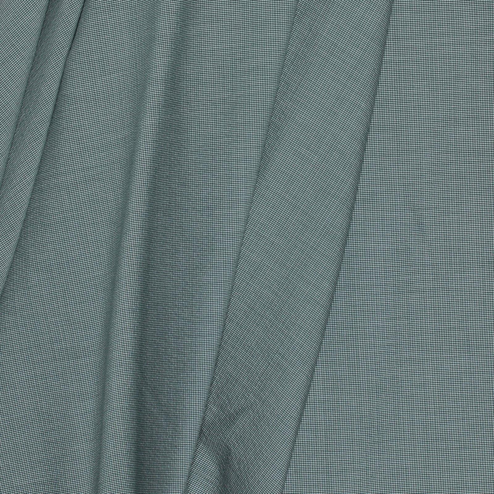 Green Tiny Houndstooth Italian Cotton/Wool/Ply