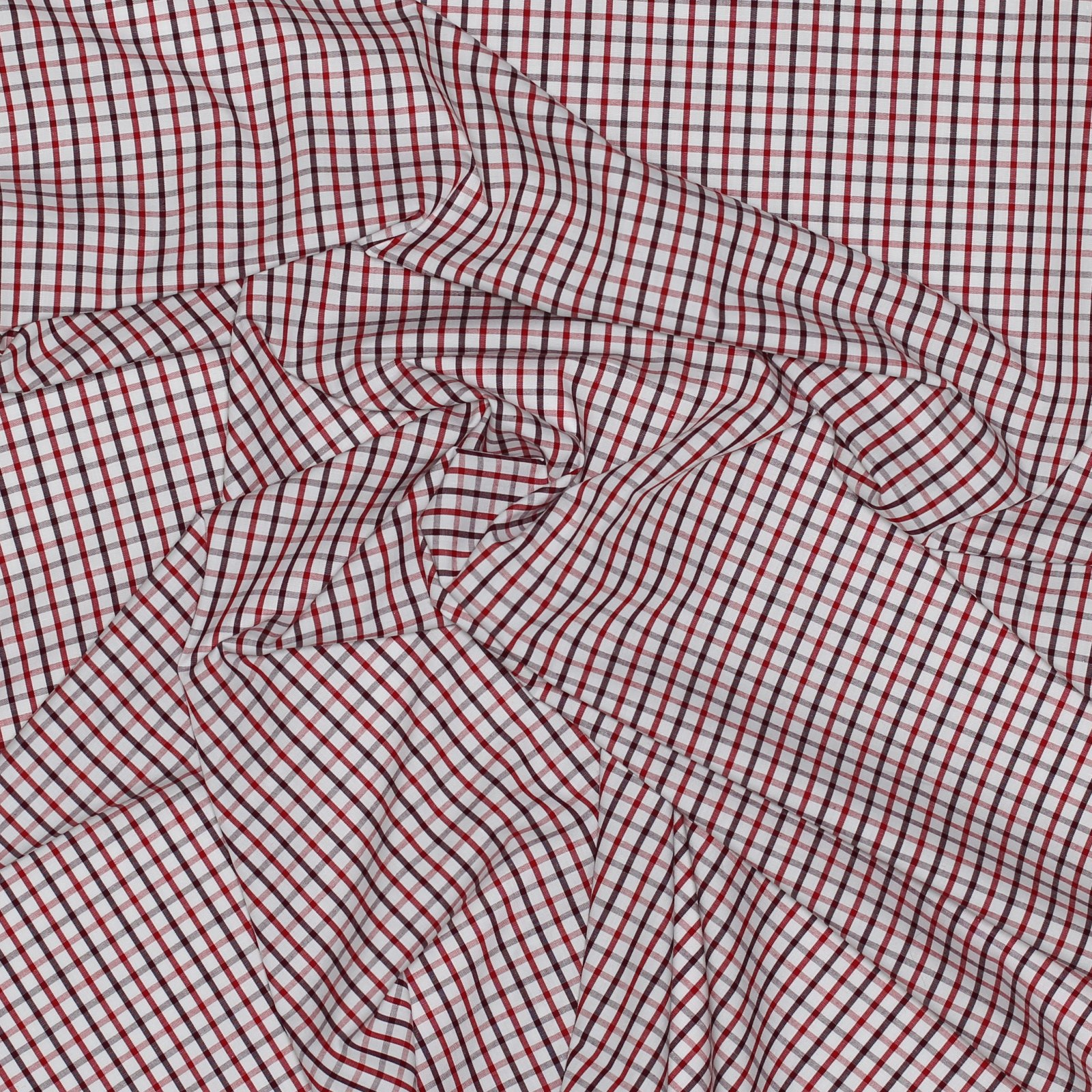 Red Check Japanese Cotton Shirting