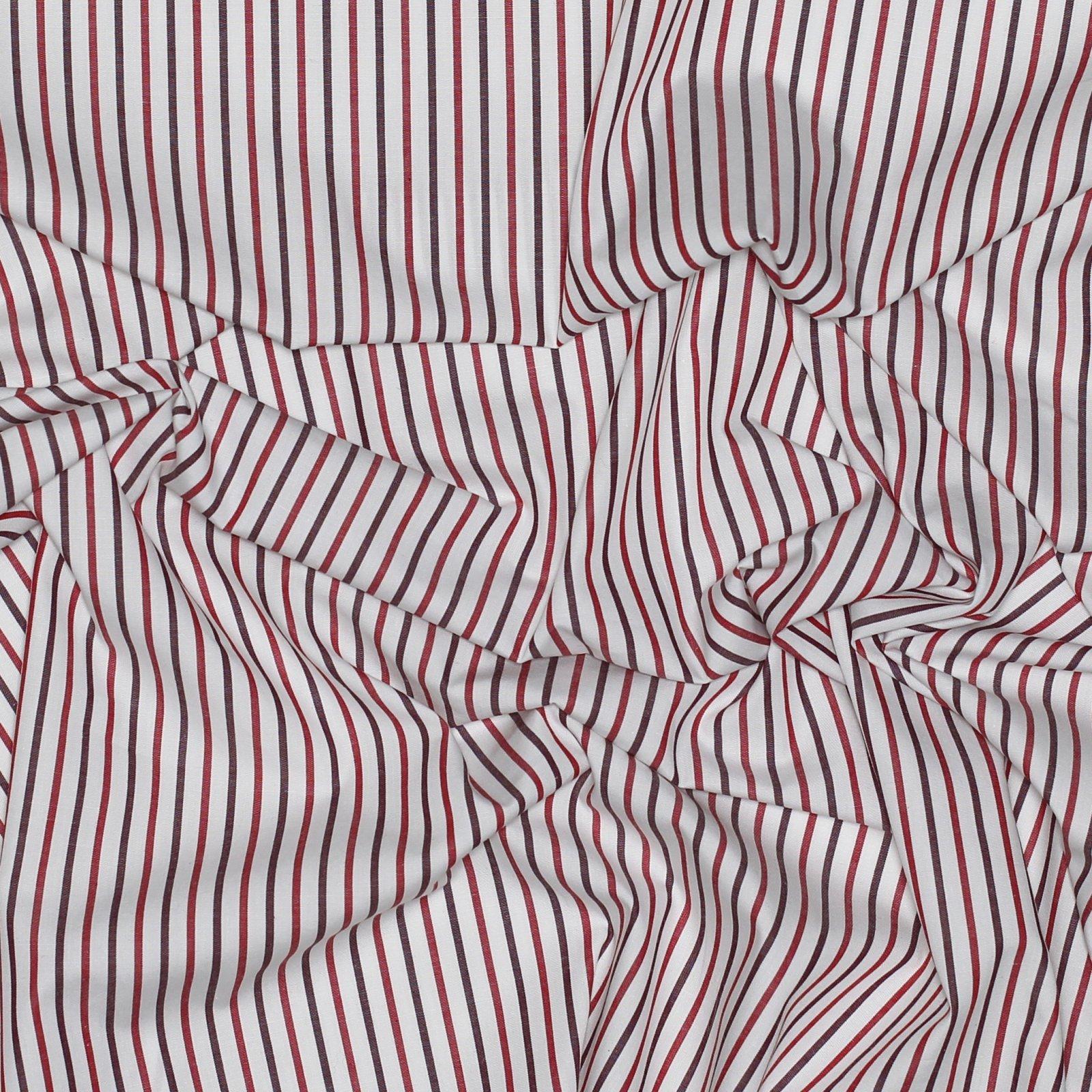 Red Stripe Japanese Cotton Shirting