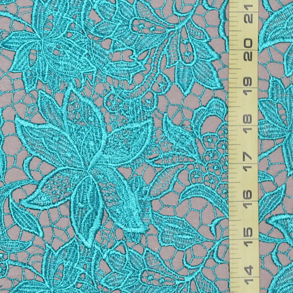 Guipure Teal French Lace