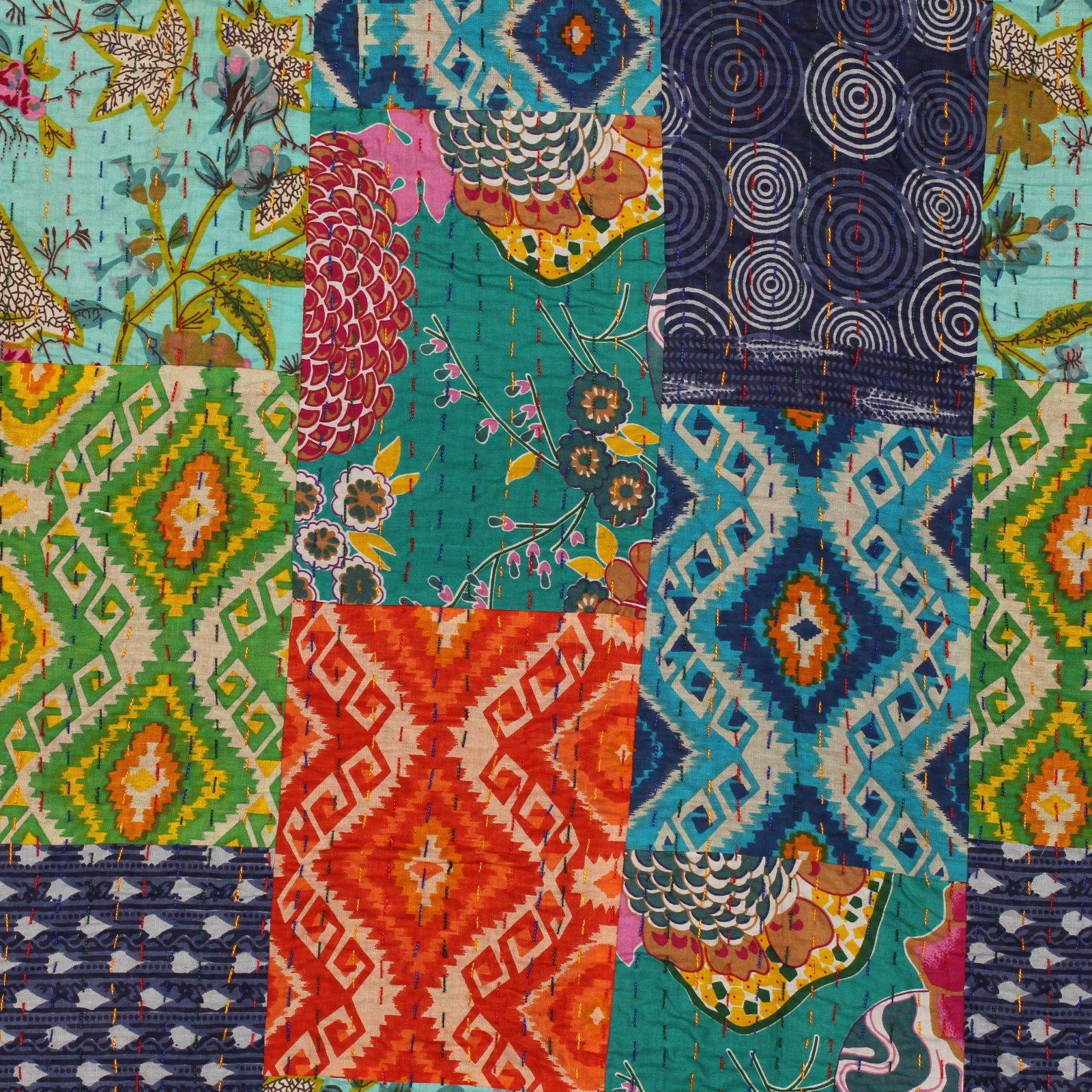 Saliha Handstitched Kantha Cloth