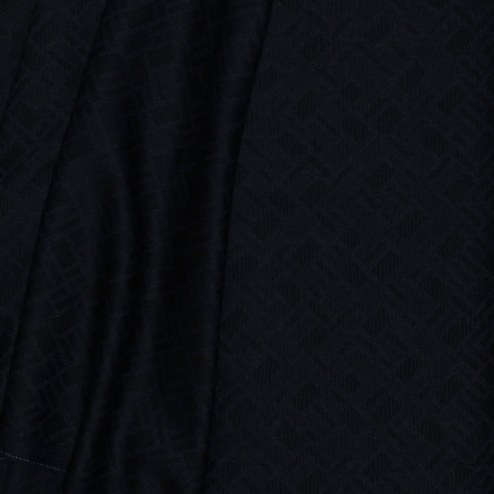 Black/Navy Woven Geometric Jaqcuard Italian Wool