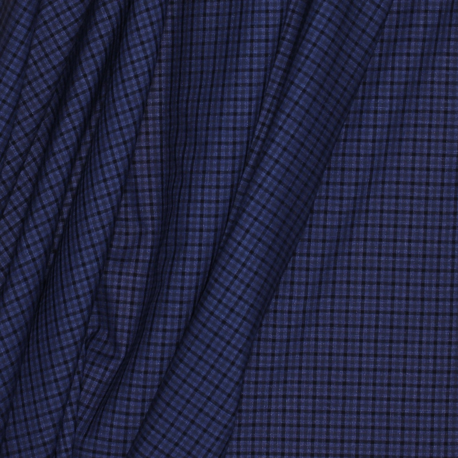 Violet/Black Small Check Italian Silk/Linen