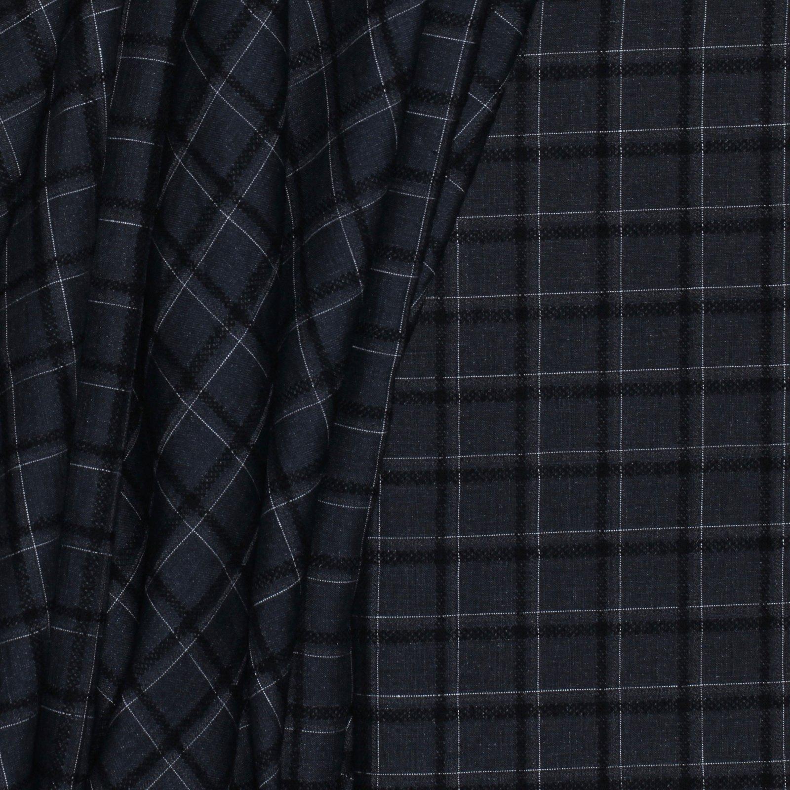Dark Grey w/Black Jacquard Check Italian Linen