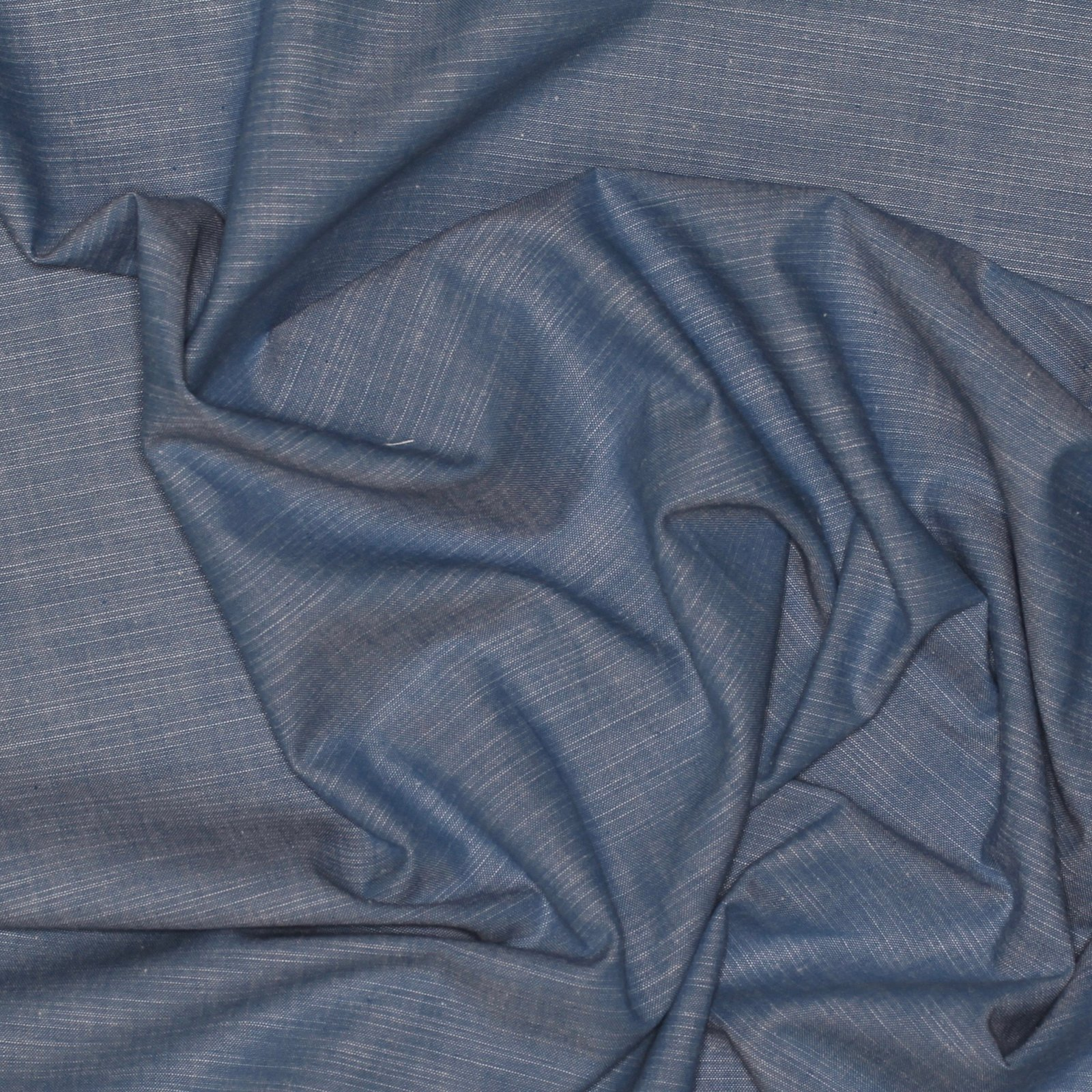 LIGHT DENIM CHAMBRAY COTTON/LINEN BLEND