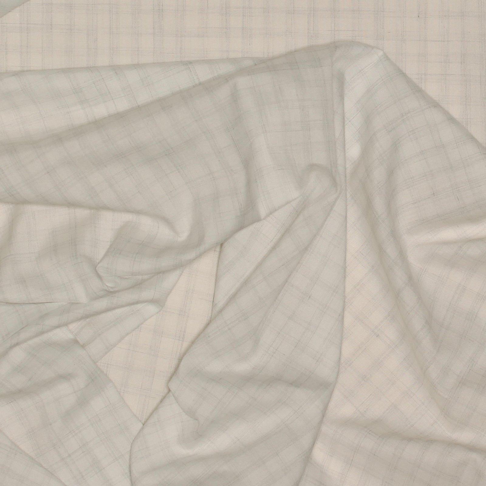 Grey on White Faint Check Italian Cotton