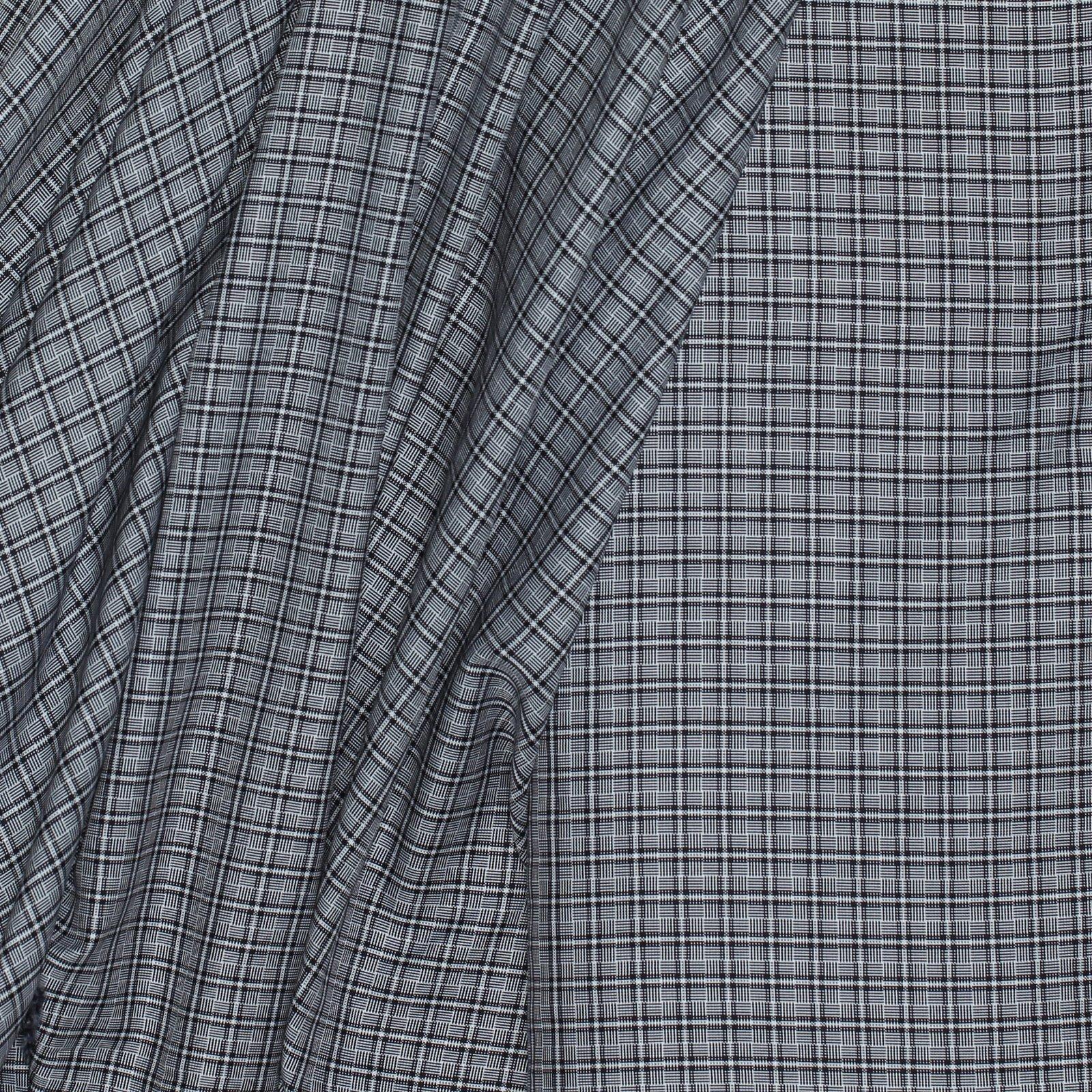 Black/White Check Italian Cotton