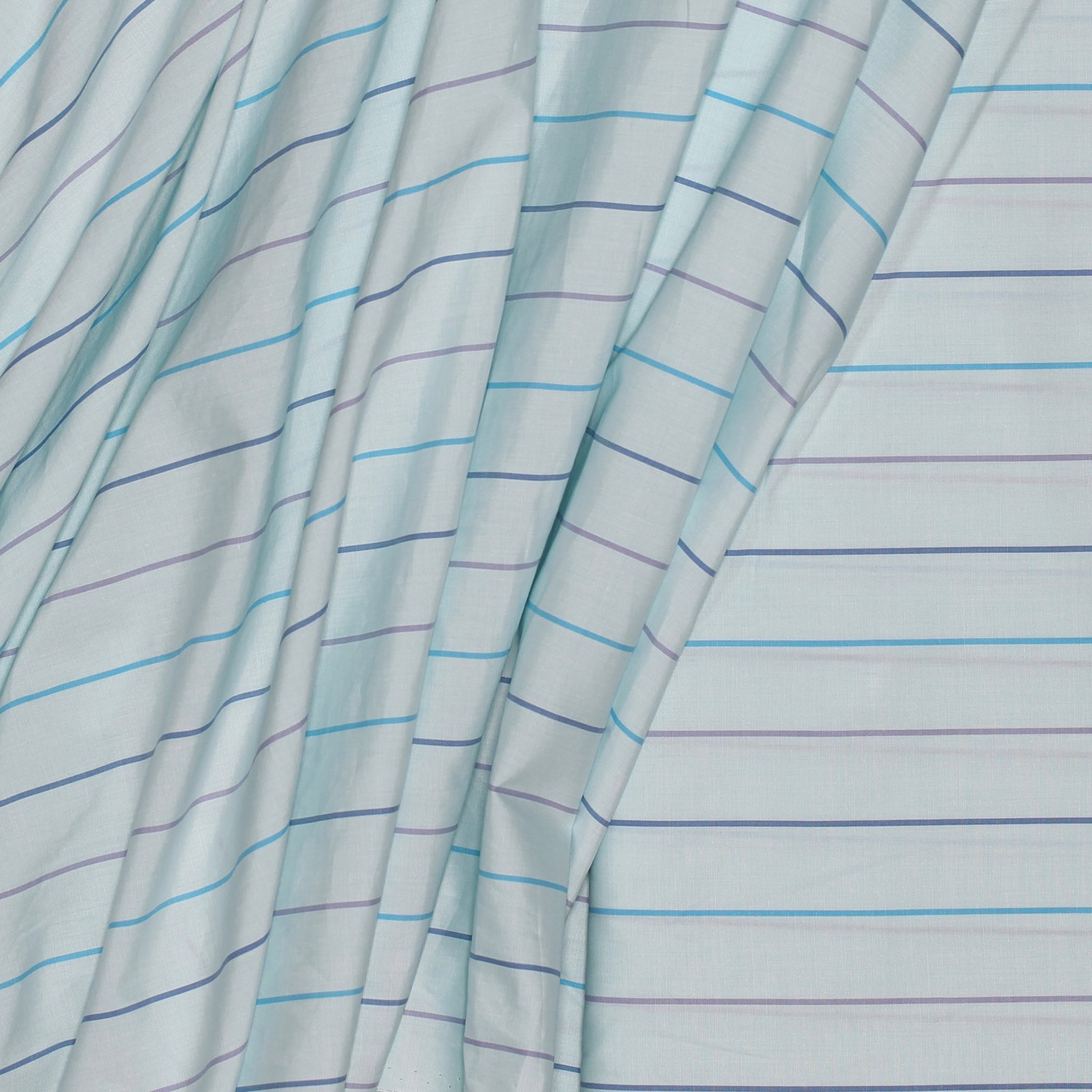 Baby Blue w/Purple/Blue/Navy Stripe Italian Cotton