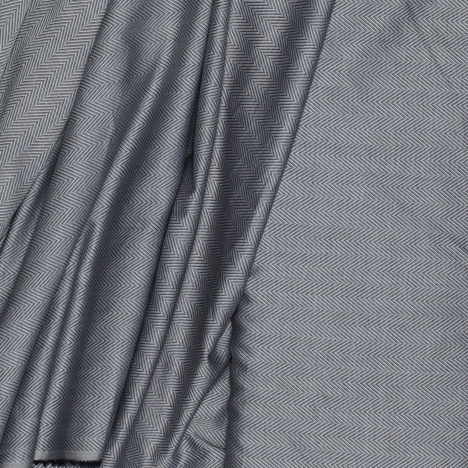 Black/White Woven Chevron 100s 2PLY Italian Cotton