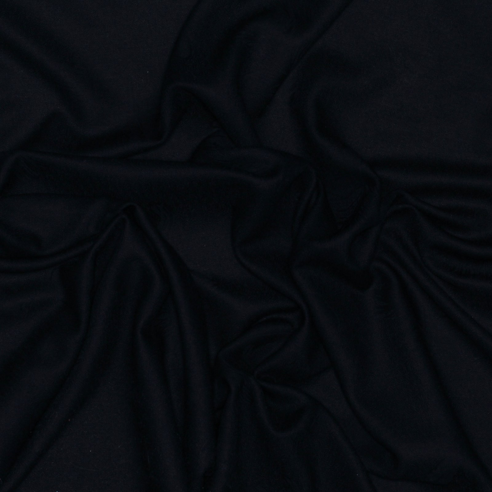Italian Virgin Wool Brocade Black with Feather Design