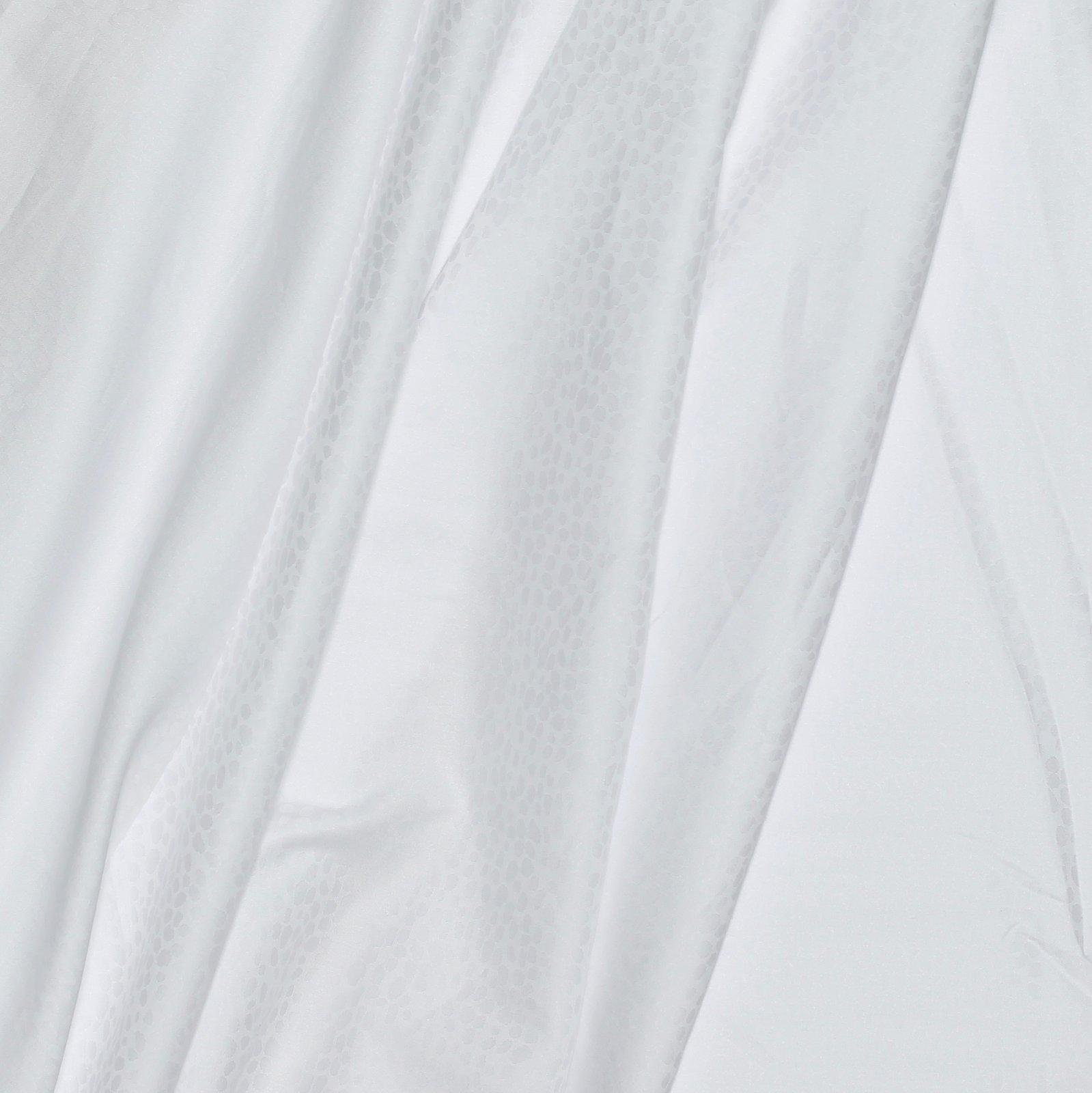 White on White Italian Cotton Jacquard