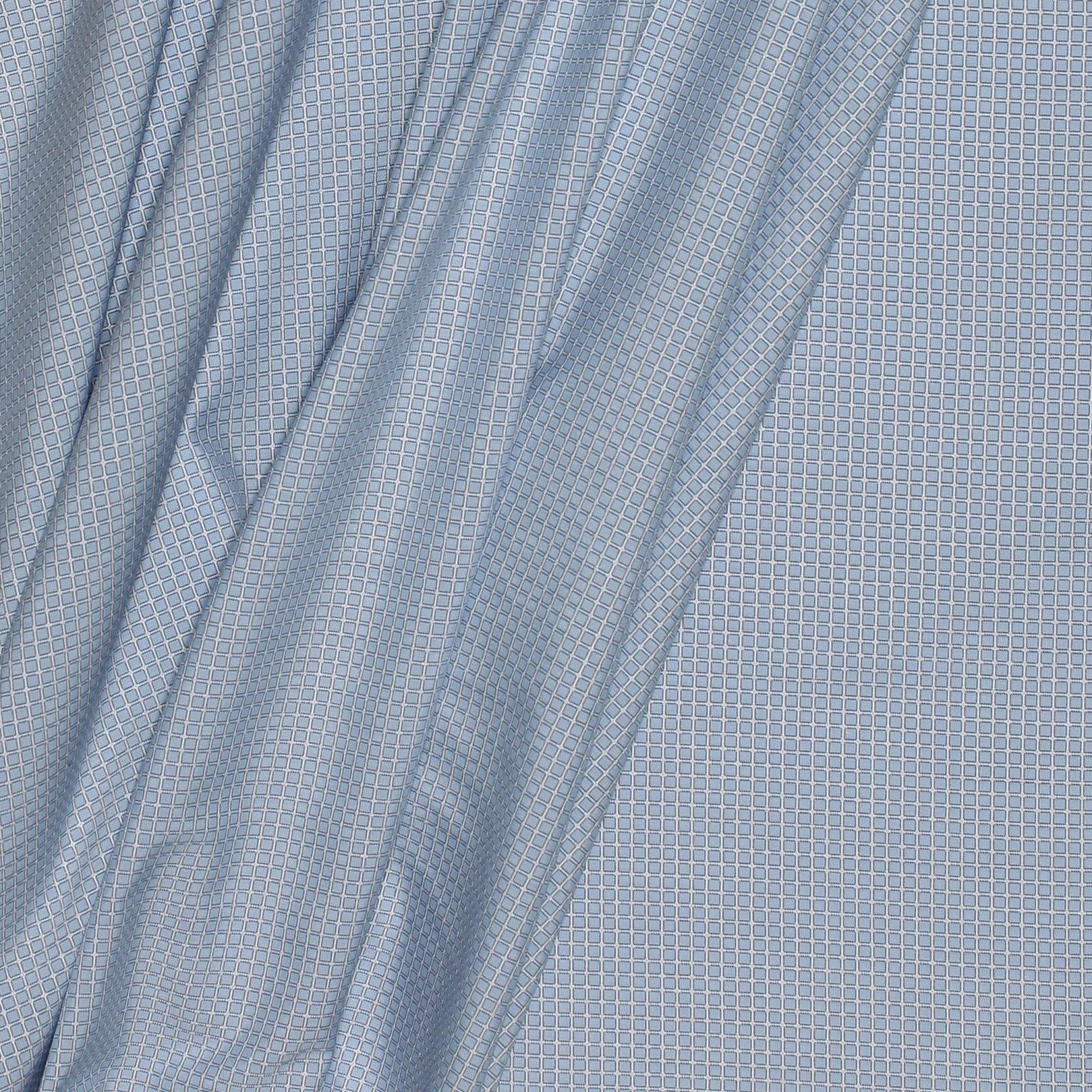 Small Blue Check 2PLY Italian Cotton