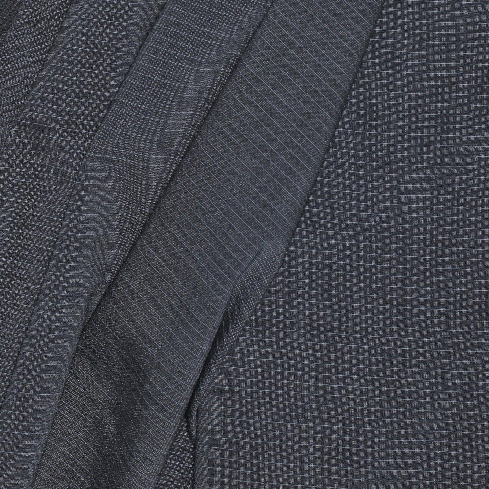 Grey w/Grey Pinstripe Italian Wool Blend