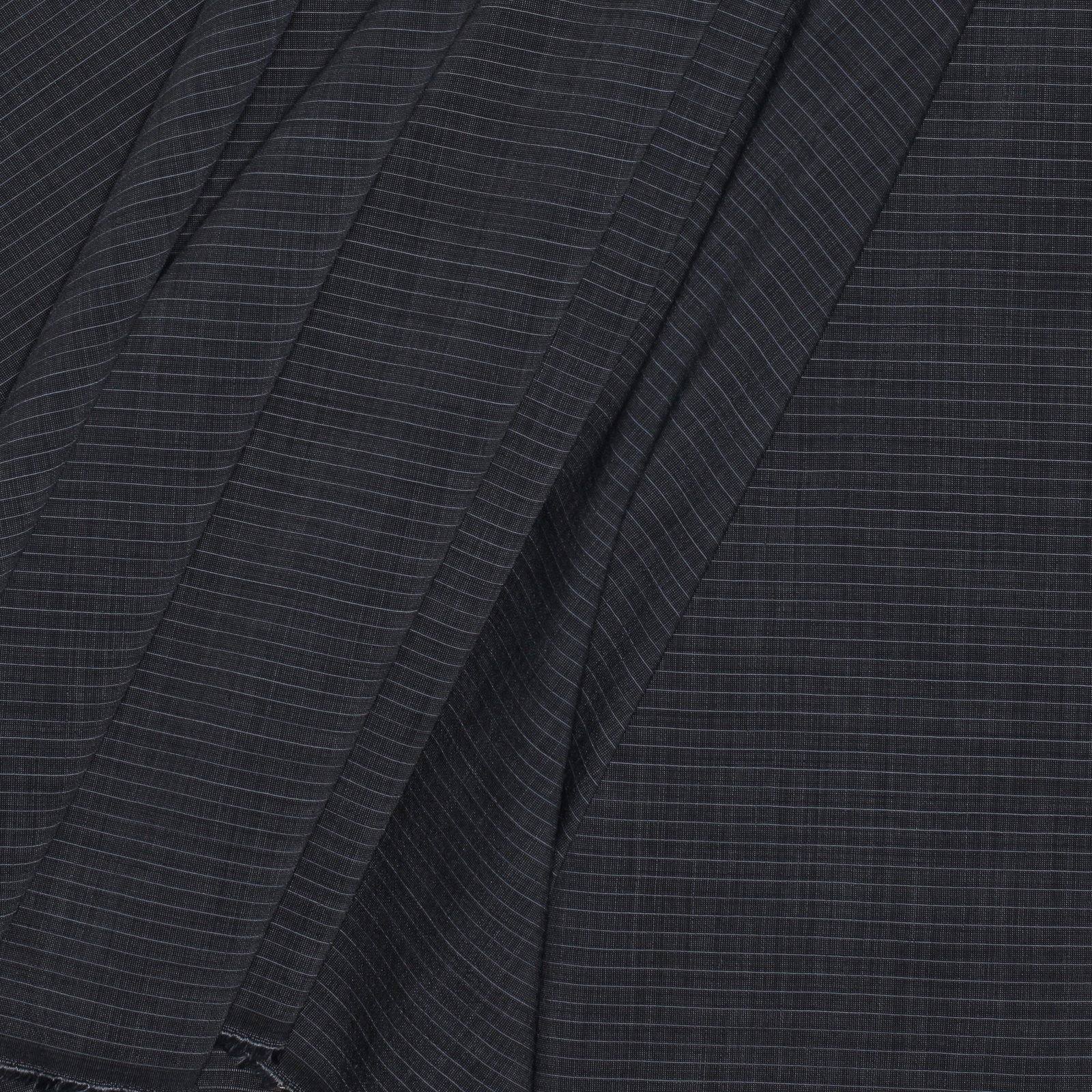 Black w/Grey Pinstripe Italian Wool Blend