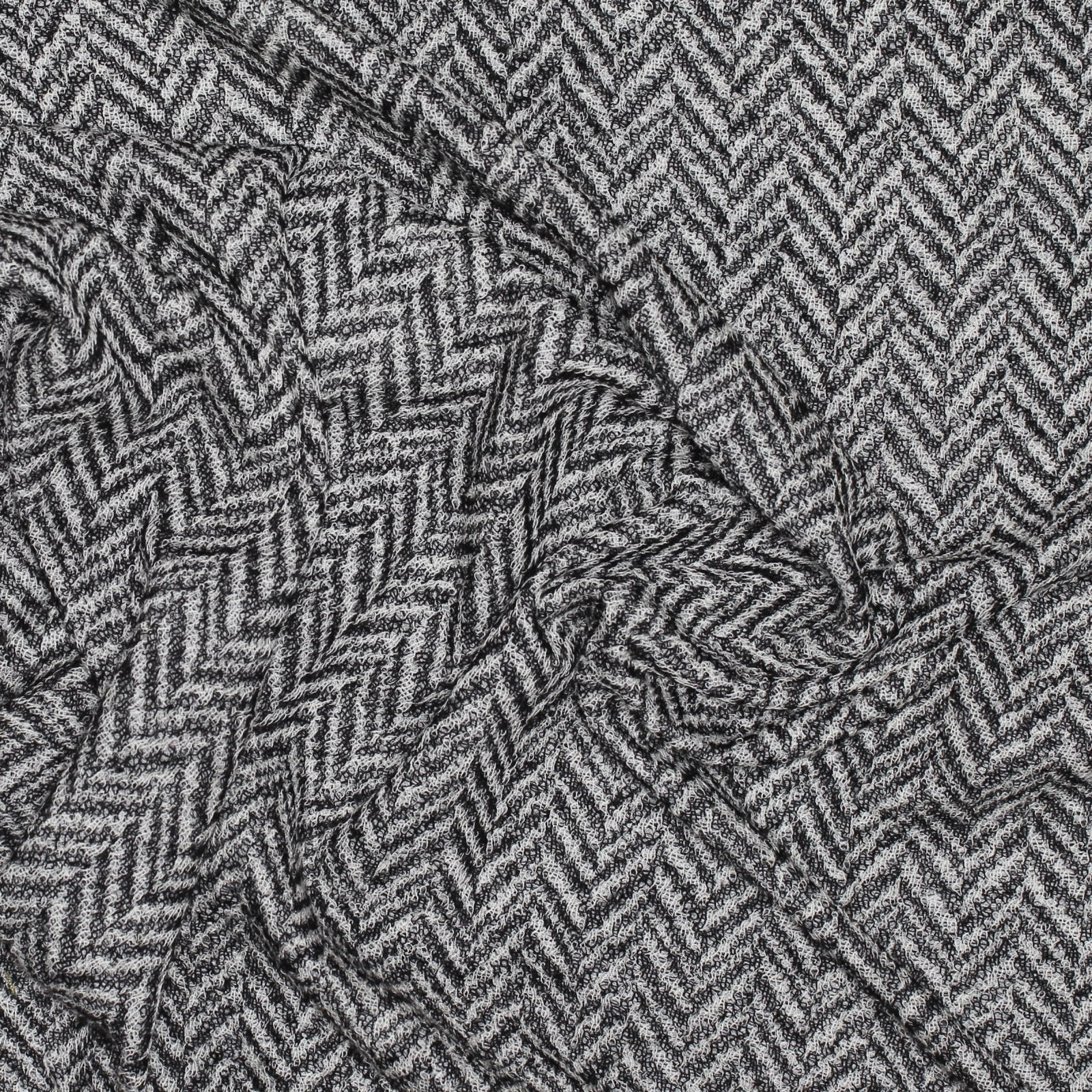 Herringbone Wool Faced with Cotton Backed Knit