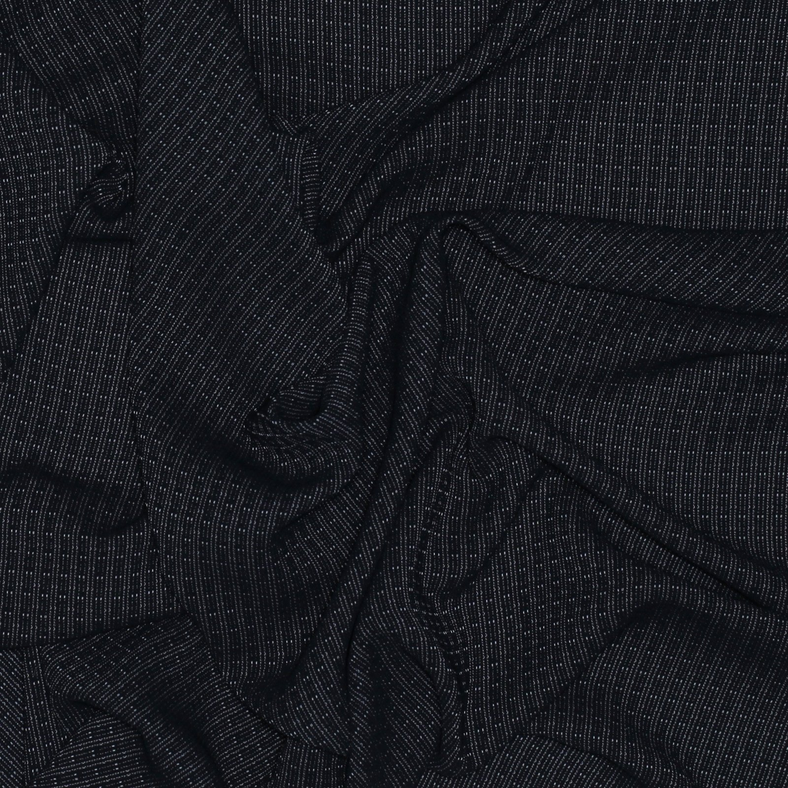Black w/White Woven Grid Polyester